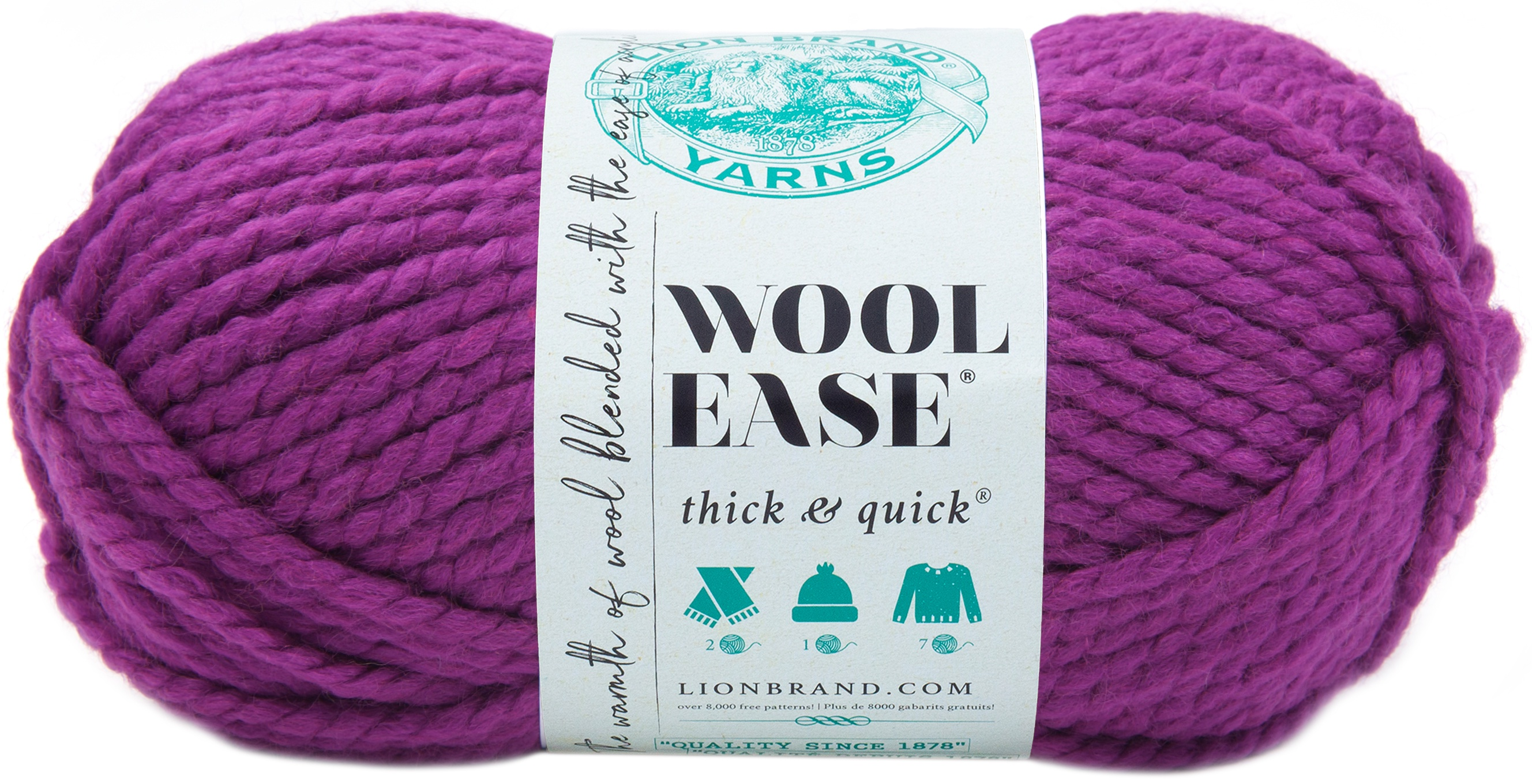 Lion Brand Wool-Ease Thick & Quick Yarn-Lollipop