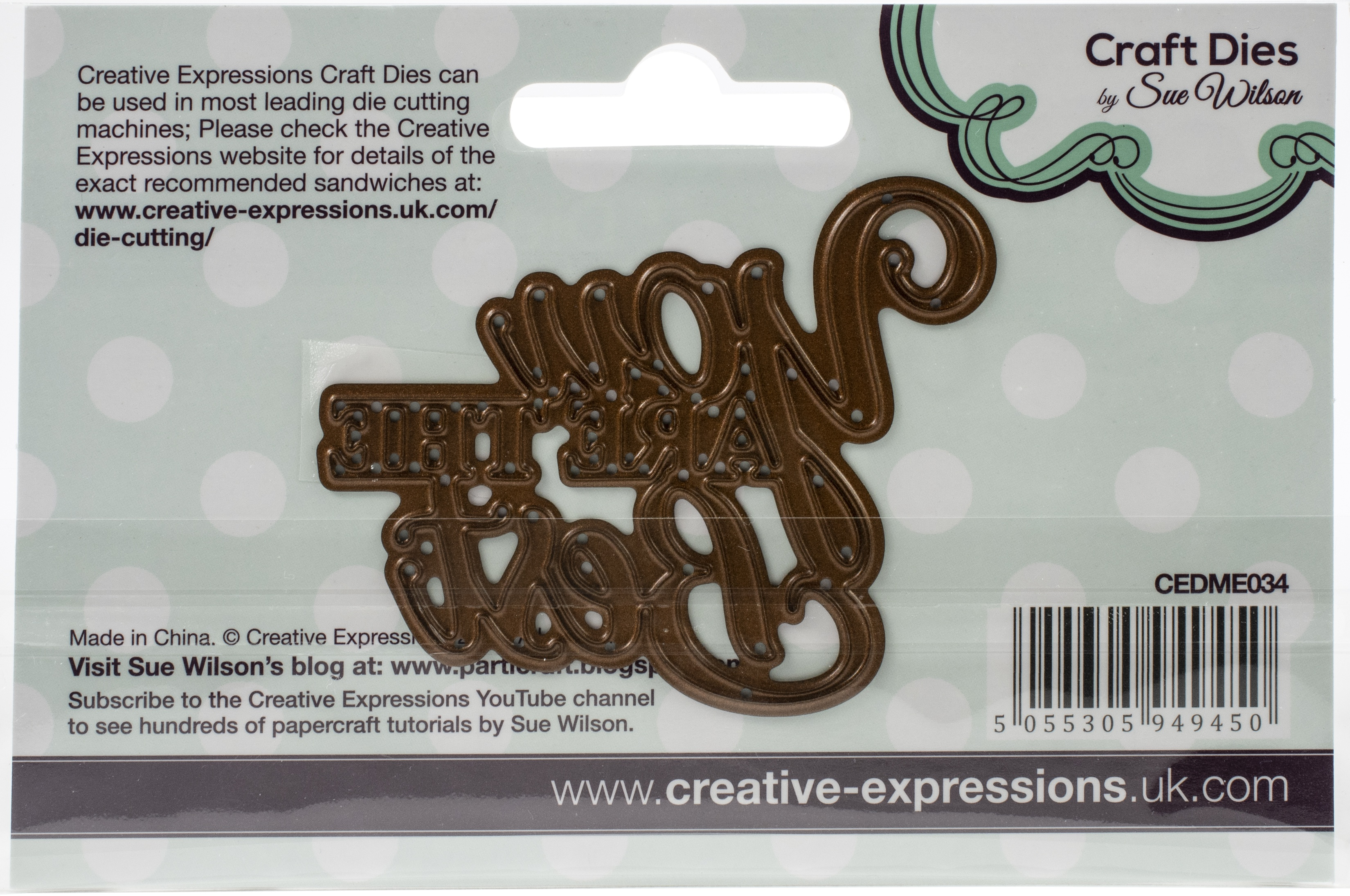 Creative Expressions Craft Dies By Sue Wilson-Mini Expressions-You Are The Best