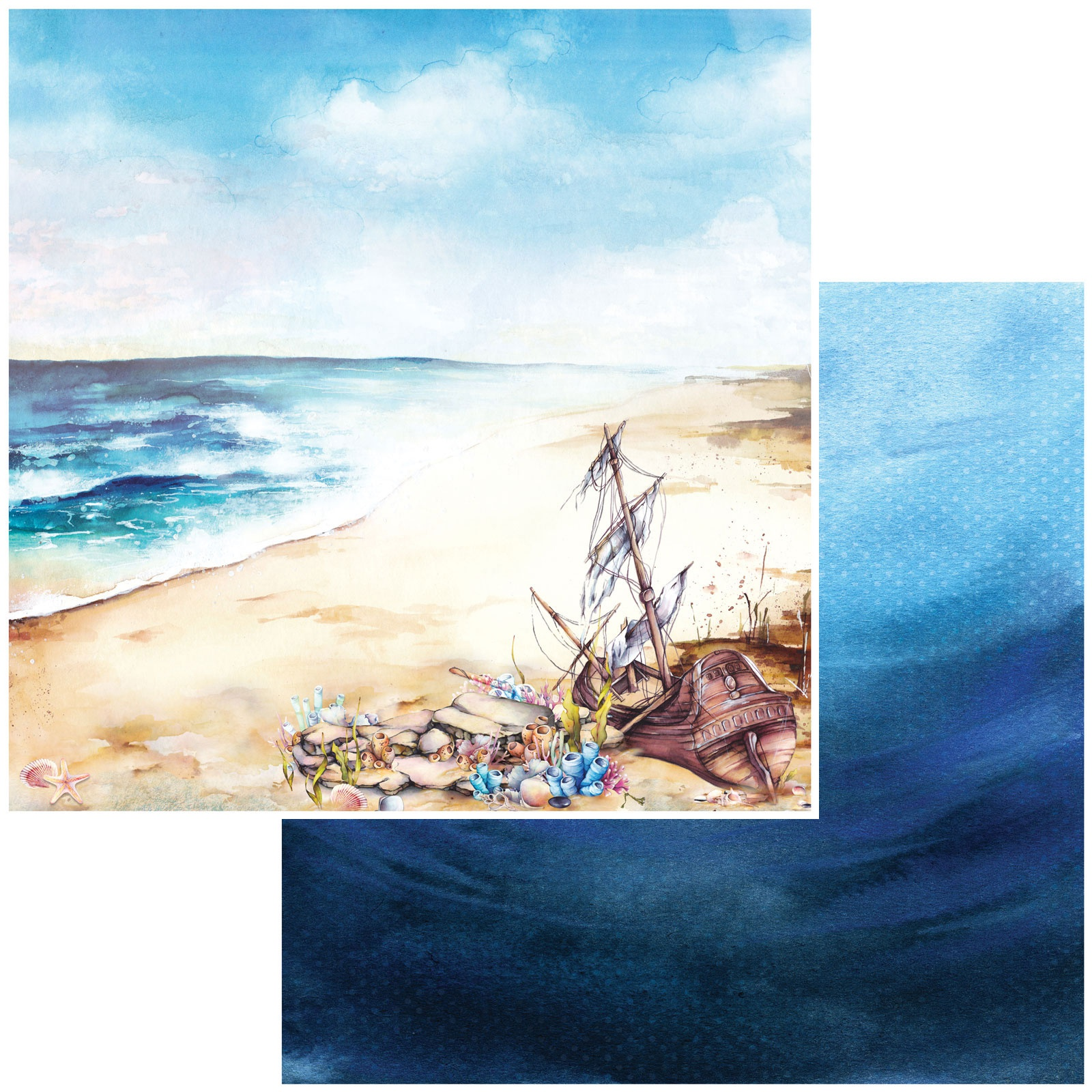 Shipwreck Double-Sided Cardstock 12X12-Beached