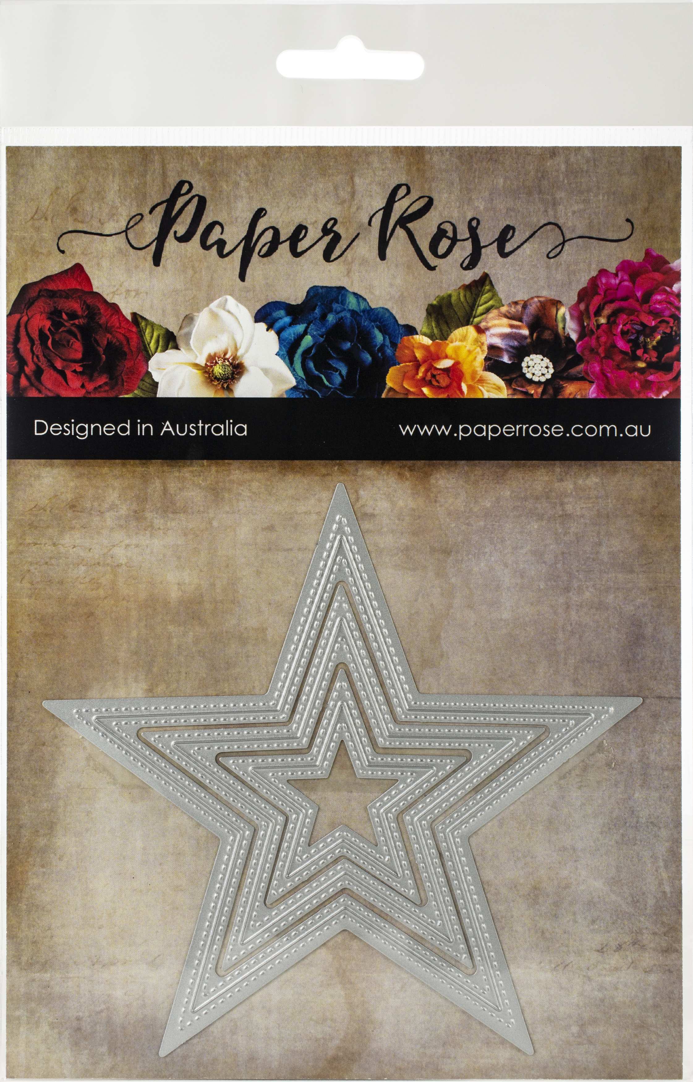 Paper Rose Dies-Nesting Stitched Stars