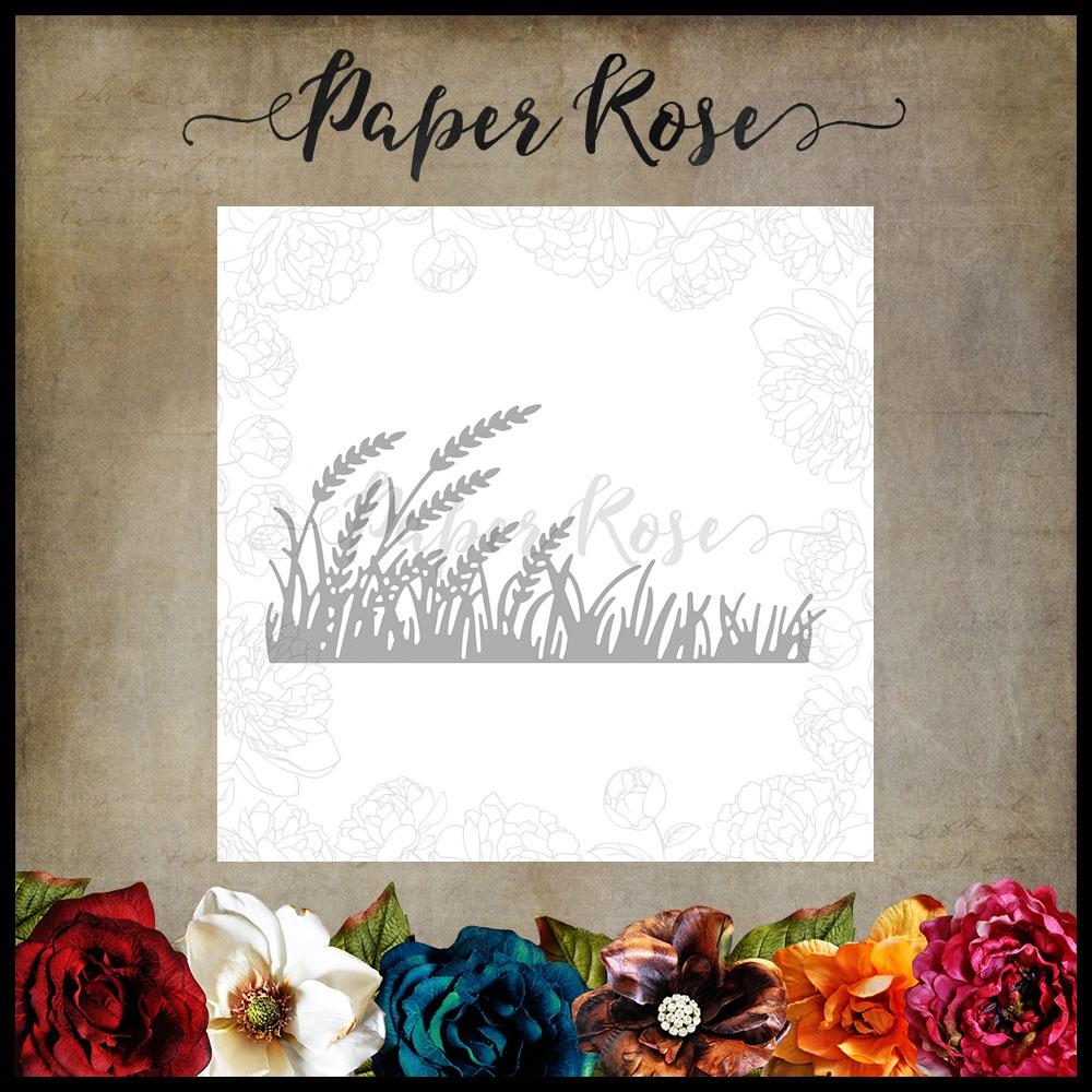 Paper Rose Dies-Wheat & Grass