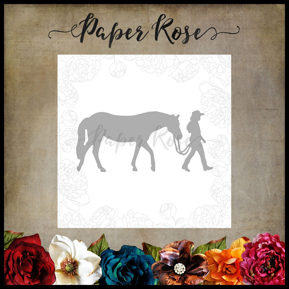 Paper Rose Dies-Girl W/Horse Small
