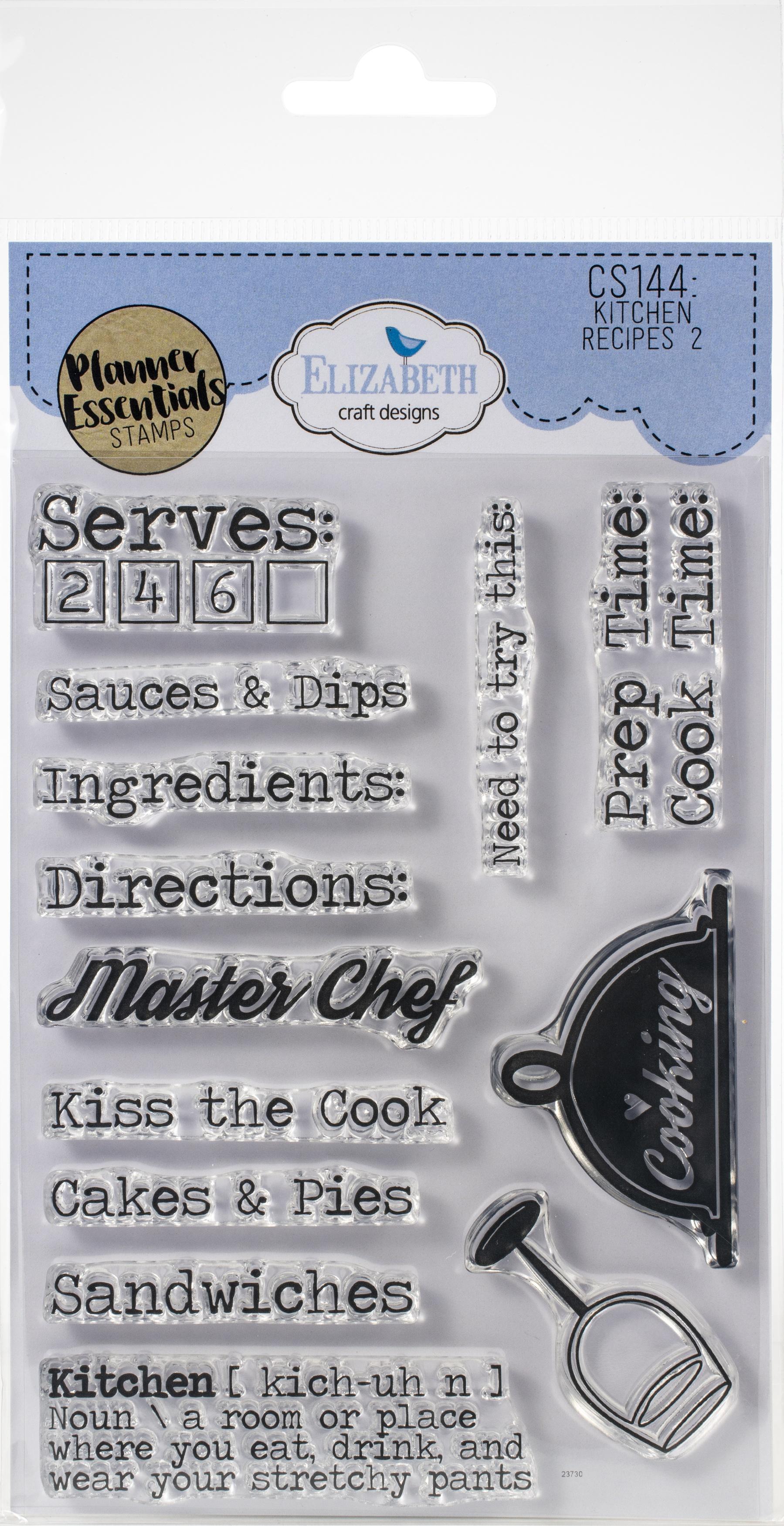 EC - Kitchen Recipe 2 Stamp Set