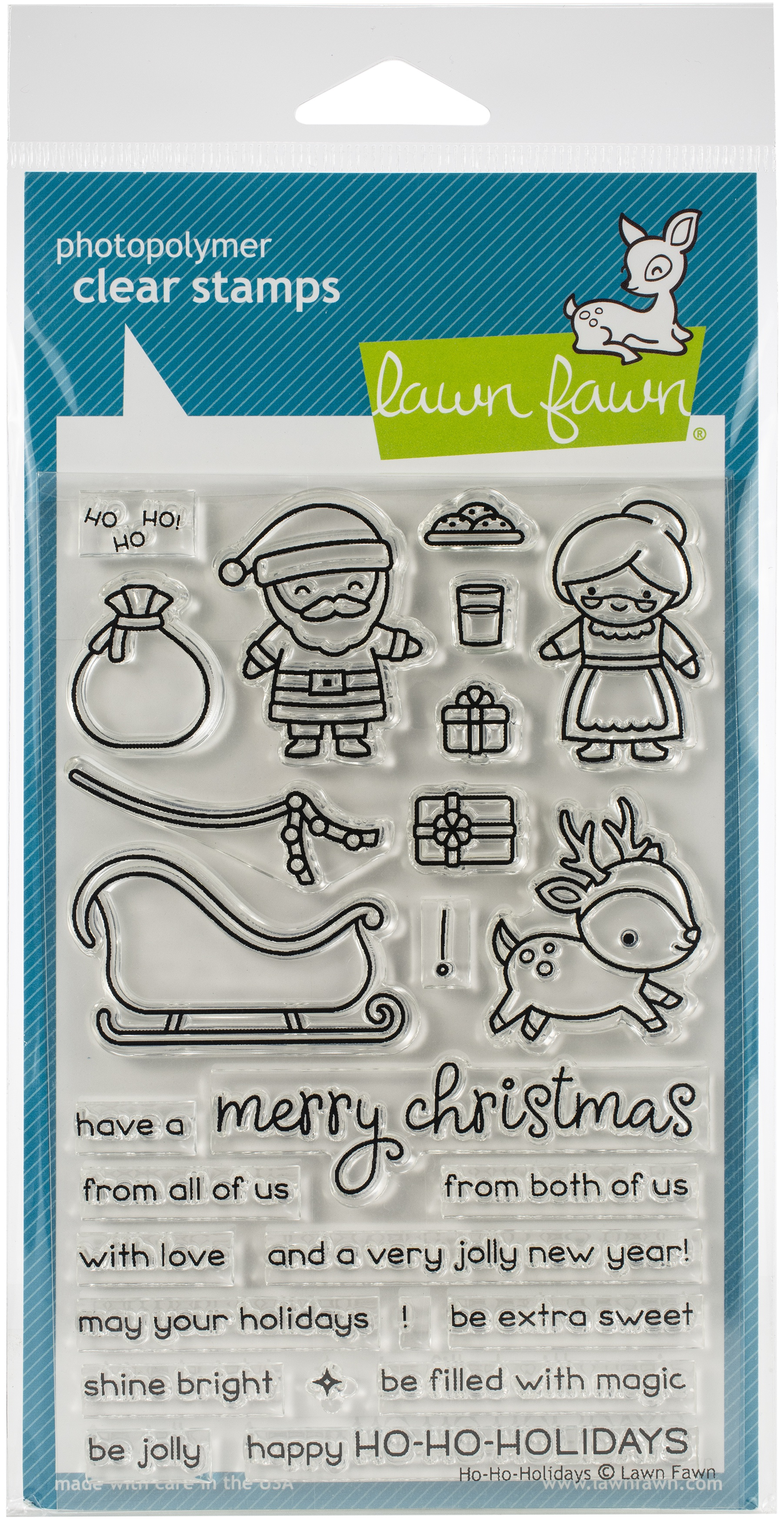 Lawn Fawn Clear Stamps 4X6-Ho-Ho-Holidays