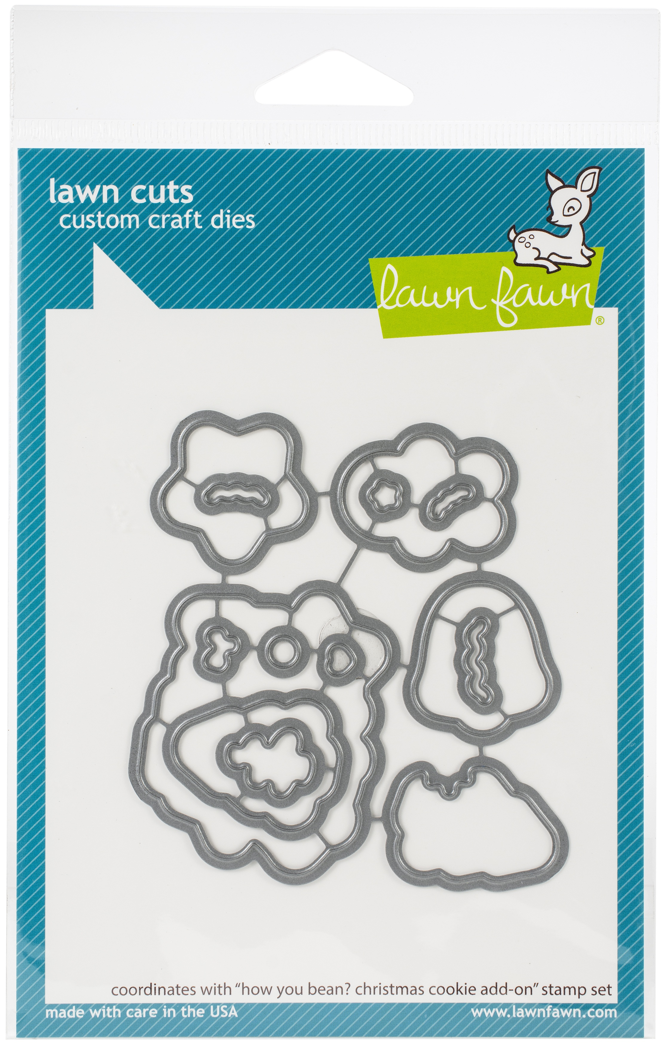 Lawn Cuts Custom Craft Die-How You Bean? Christmas Cookie Add-On