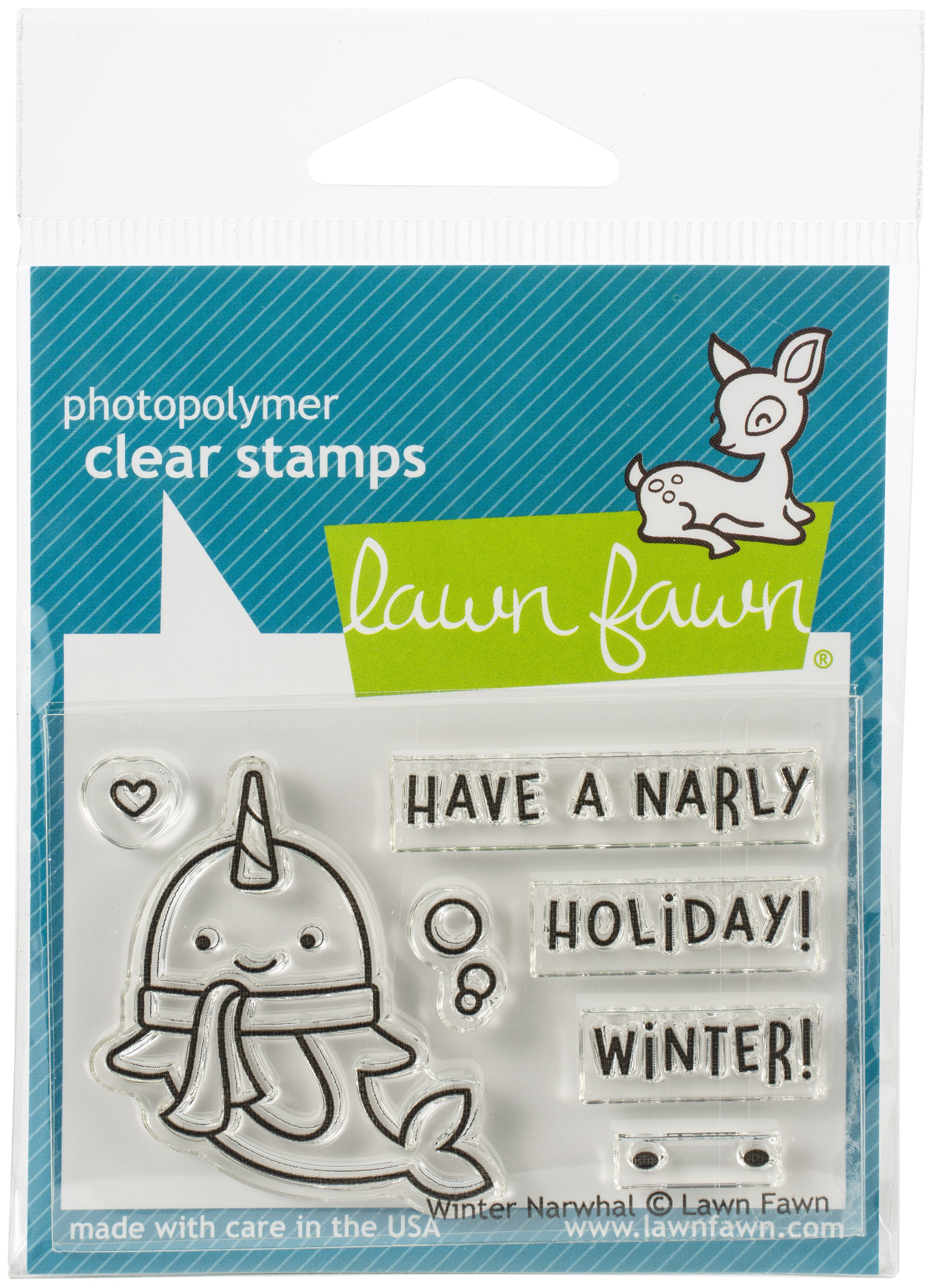 Winter Narwhal Stamp