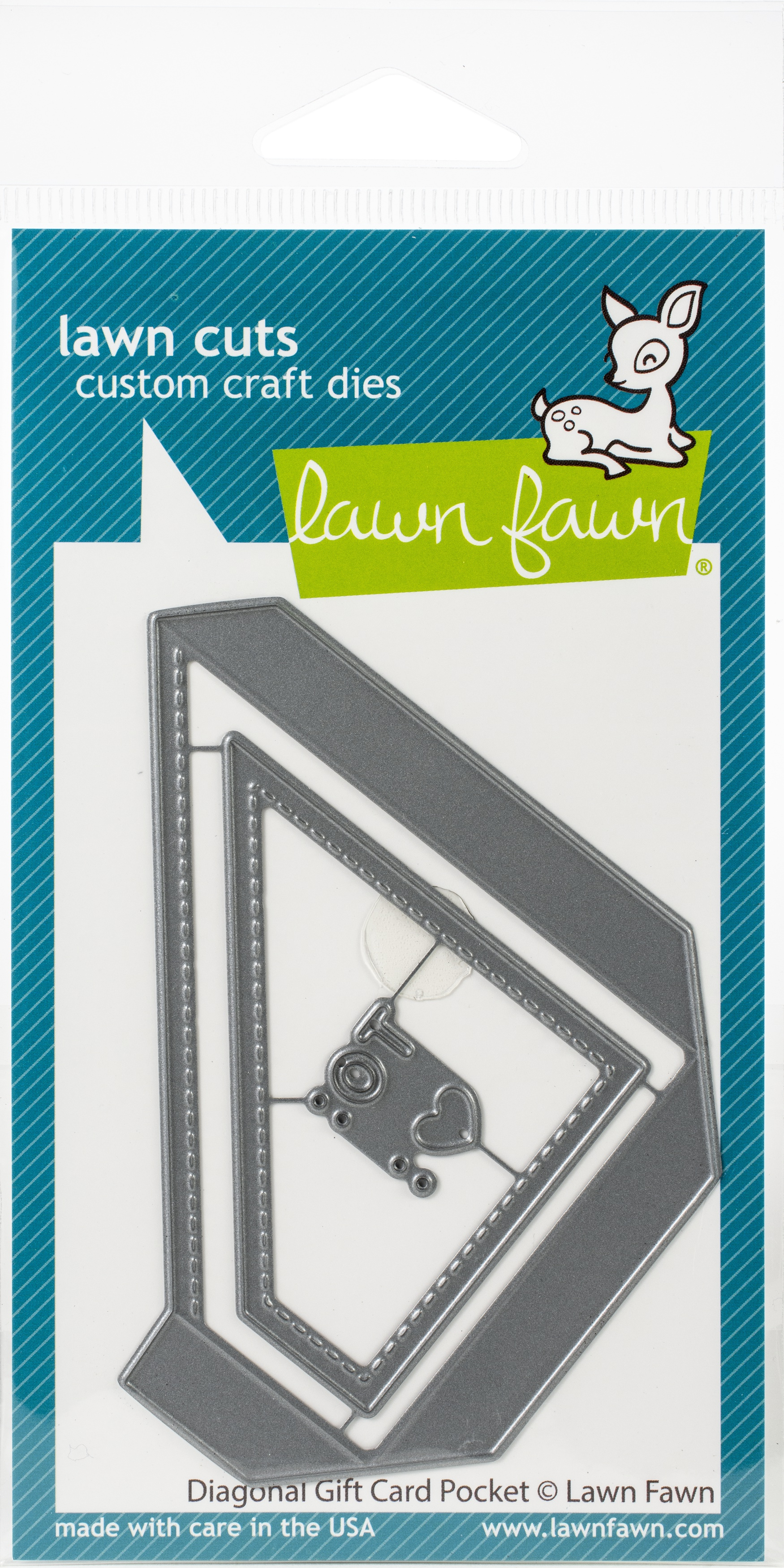Lawn Cuts Custom Craft Die-Diagonal Gift Card Pocket