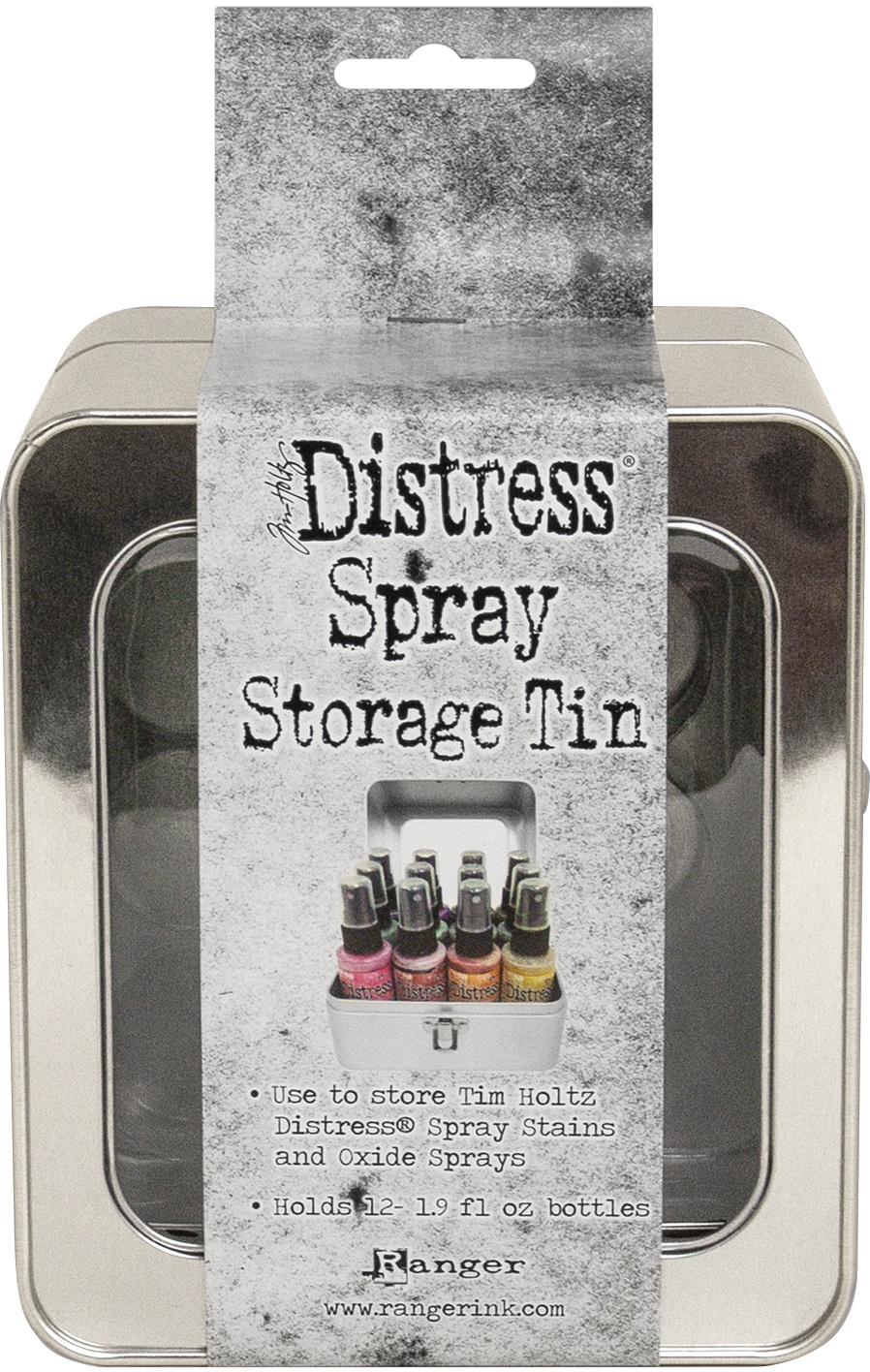 Tim Holtz Distress Oxide Spray Storage Tin-Holds 12
