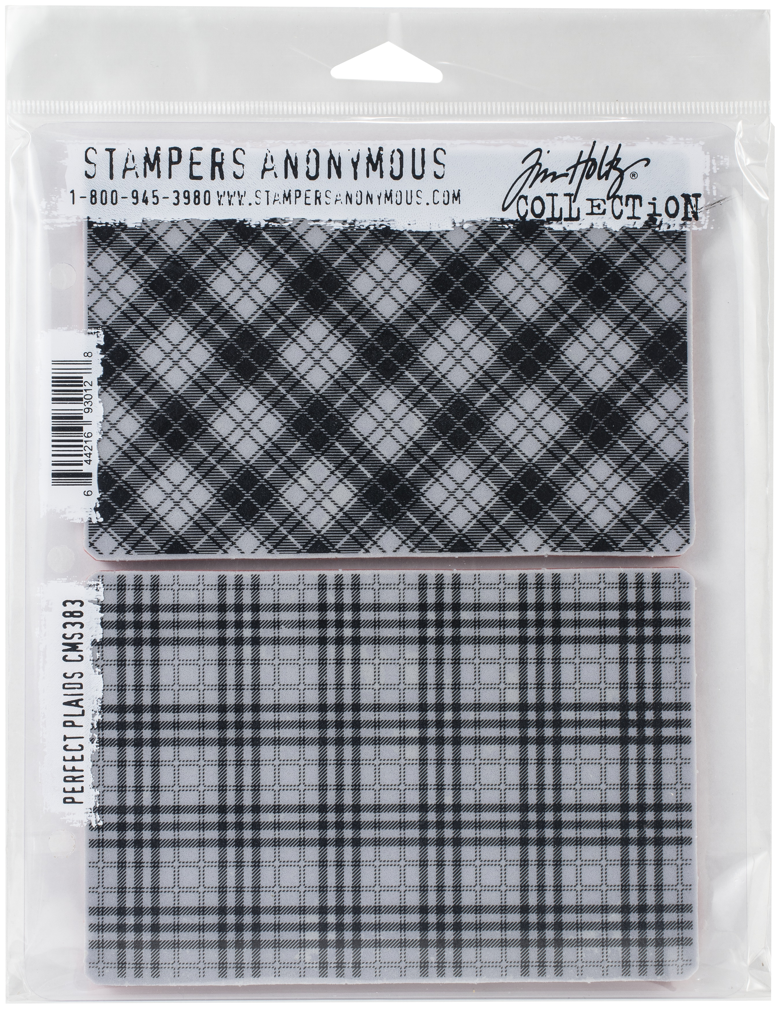 Tim Holtz Cling Stamps 7X8.5-Perfect Plaid