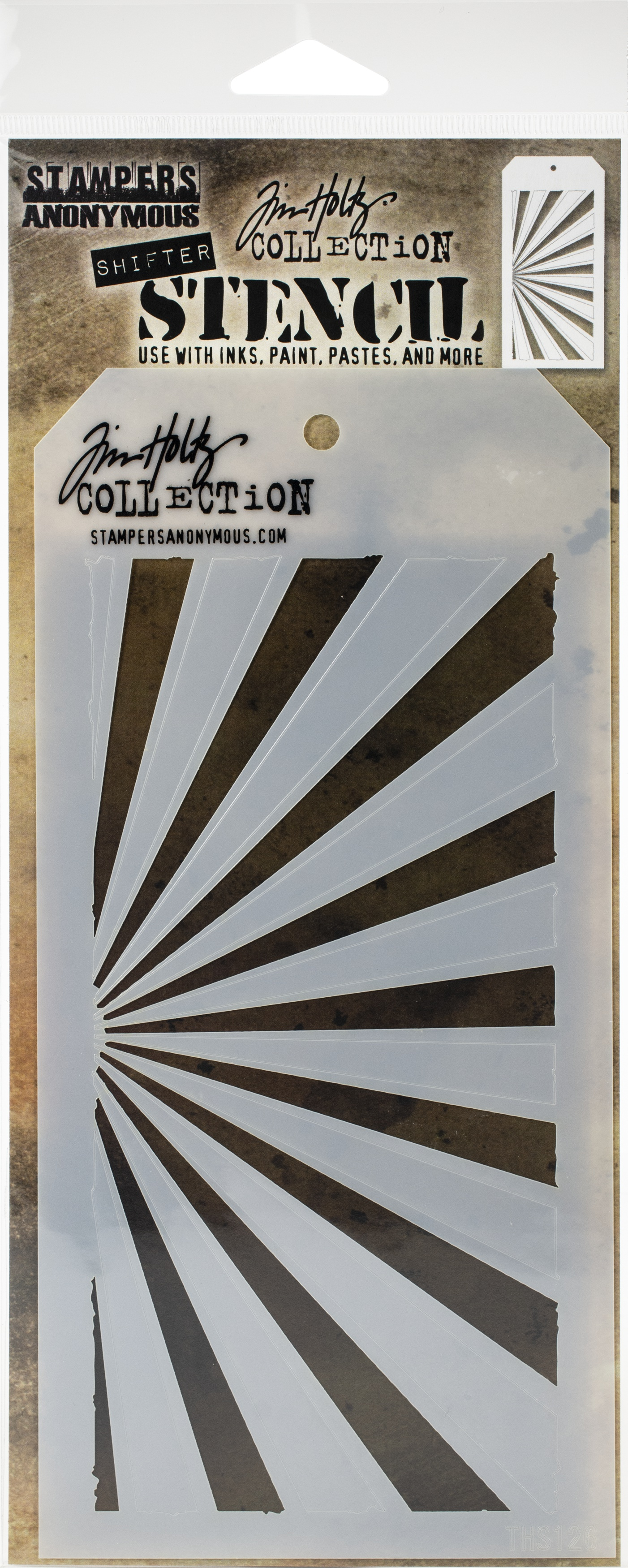Tim Holtz Layered Stencil 4.125X8.5-Shifter Rays
