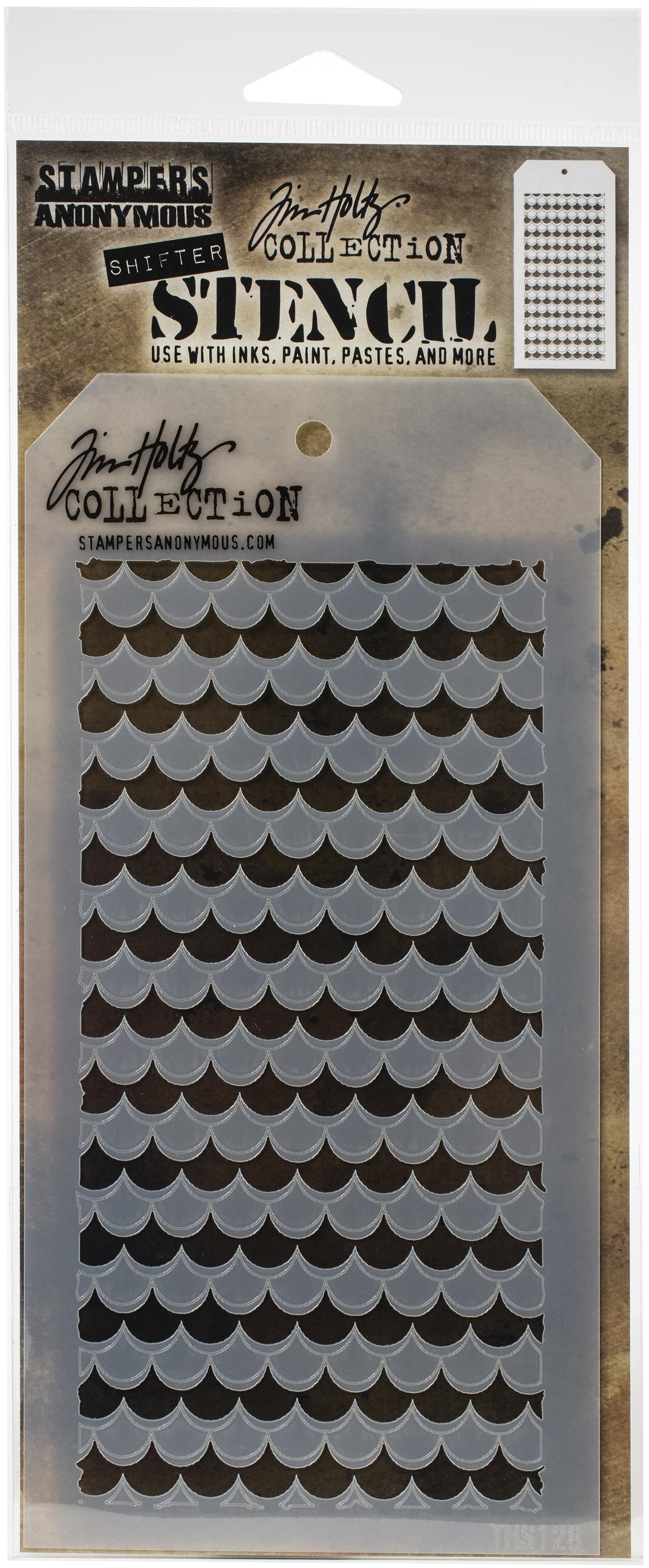 Tim Holtz Layered Stencil 4.125X8.5-Shifter Scallop