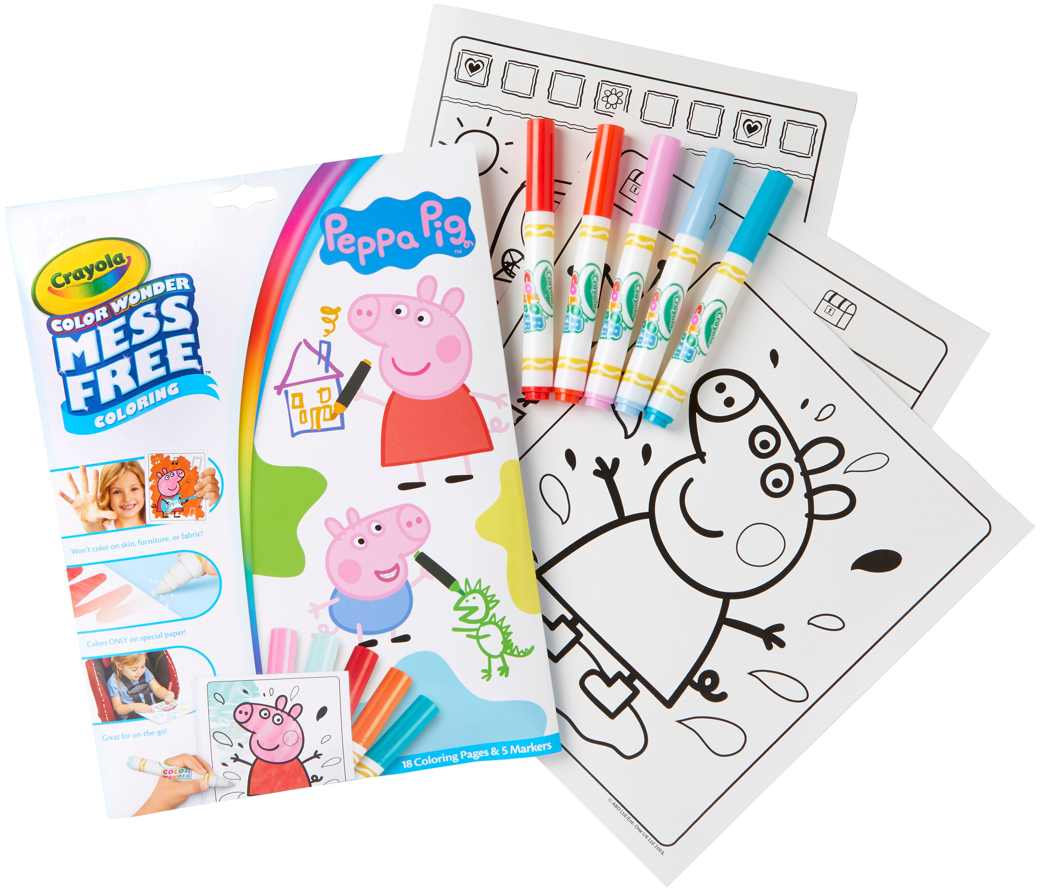 Crayola Color Wonder Coloring Pad & Markers-Peppa Pig