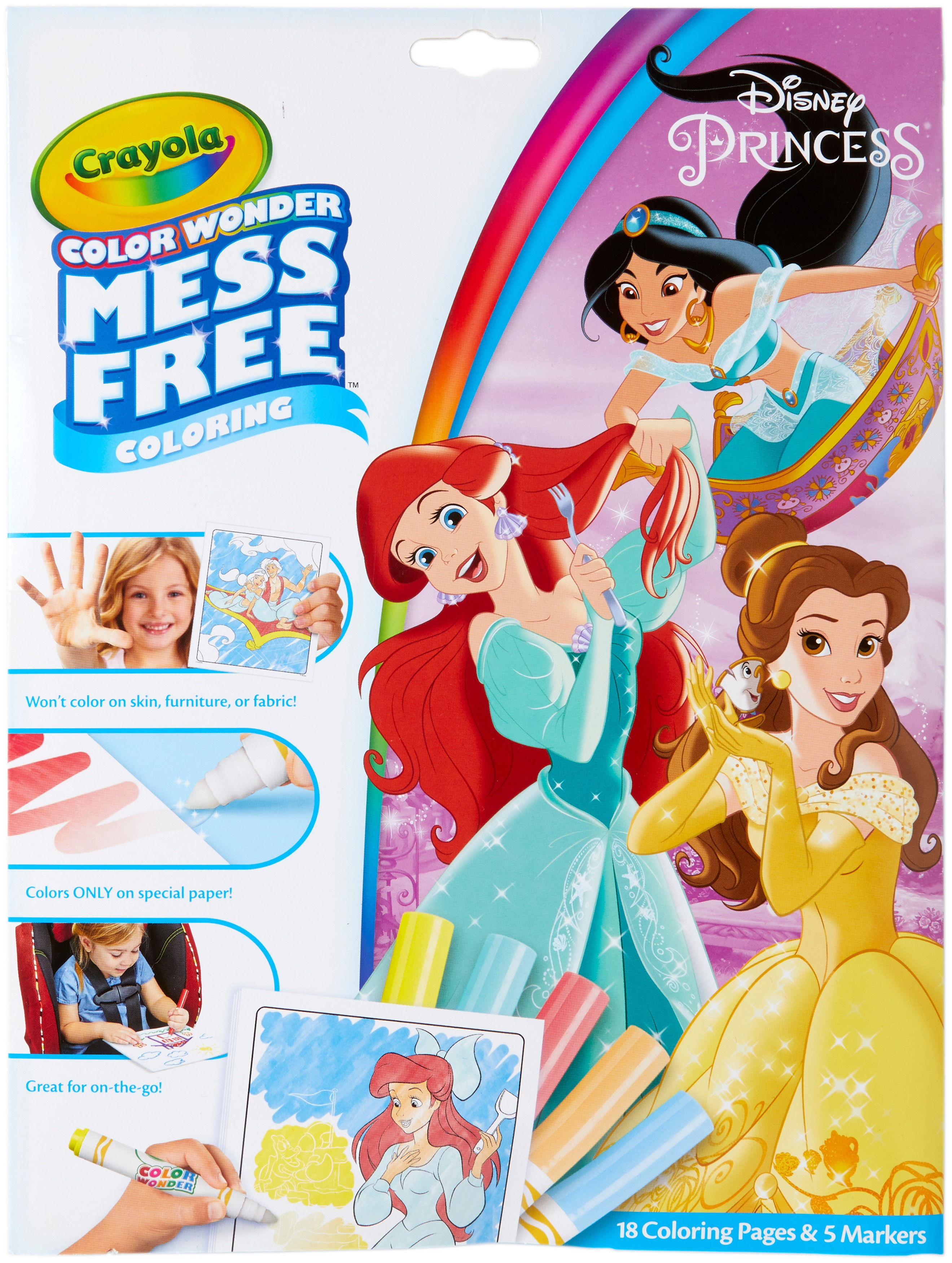 Crayola Color Wonder Coloring Pad & Markers-Princess