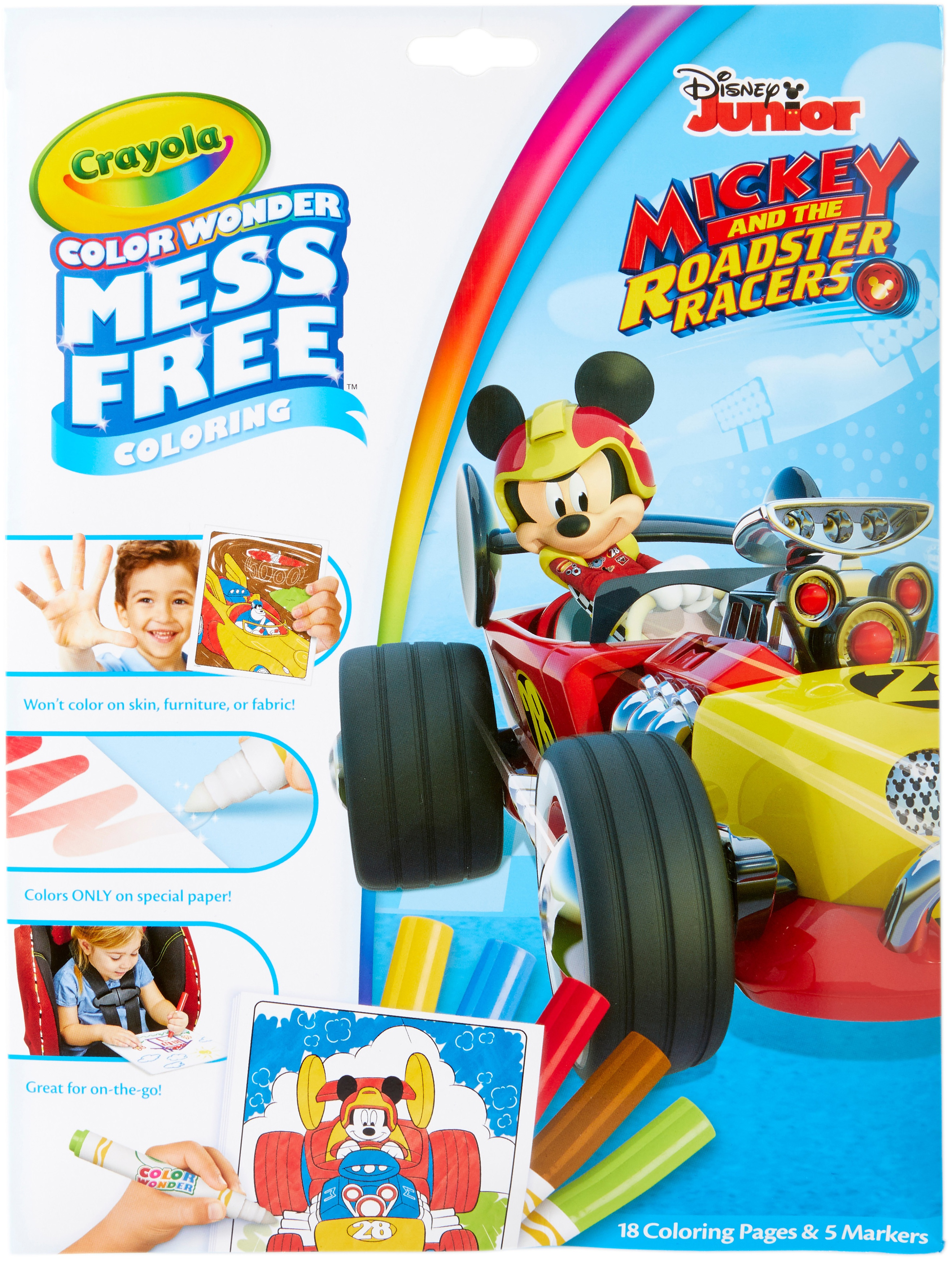 Crayola Color Wonder Coloring Pad & Markers-Mickey Mouse Roadster Racers