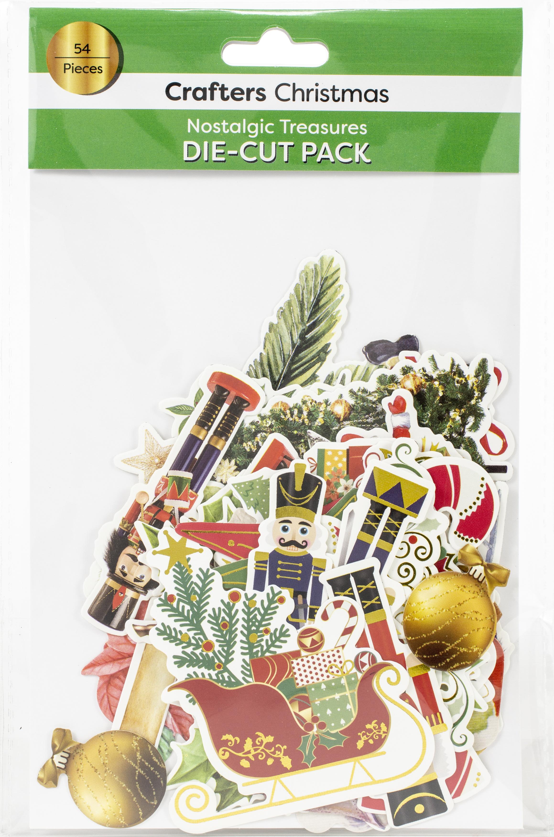 Crafters Christmas Die-Cuts 54/Pkg-Nostalgic Treasures