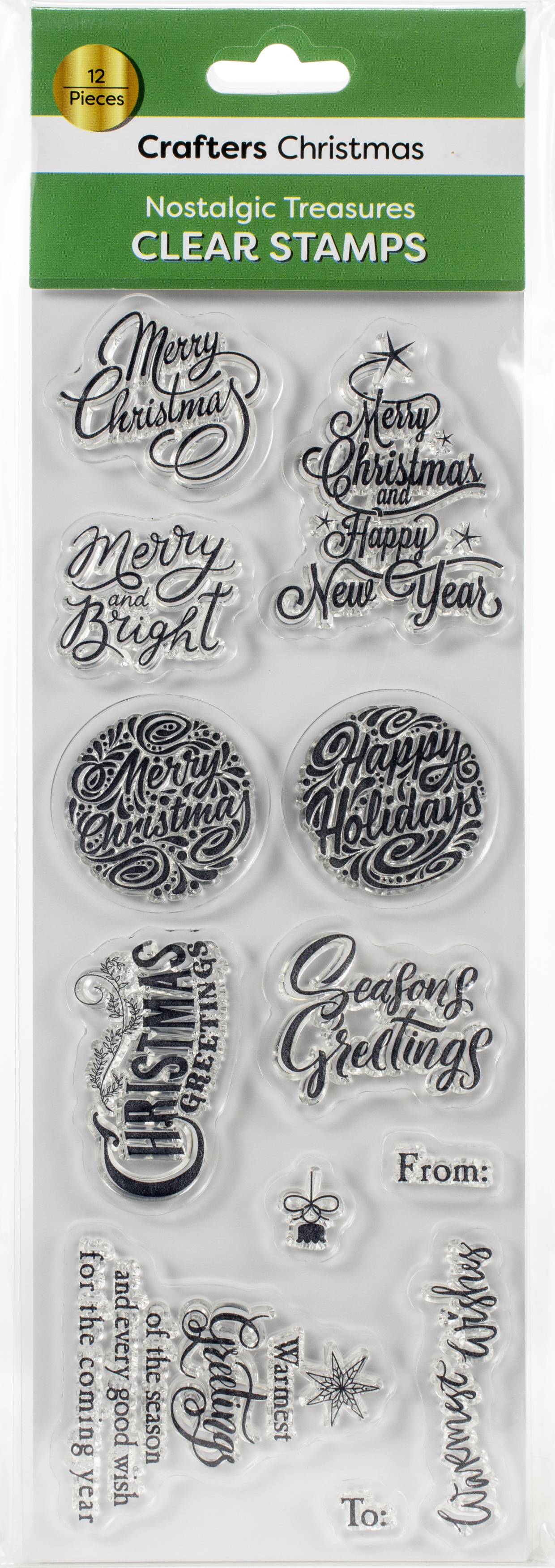 Crafters Christmas Clear Stamps-Nostalgic Treasures Sentiments
