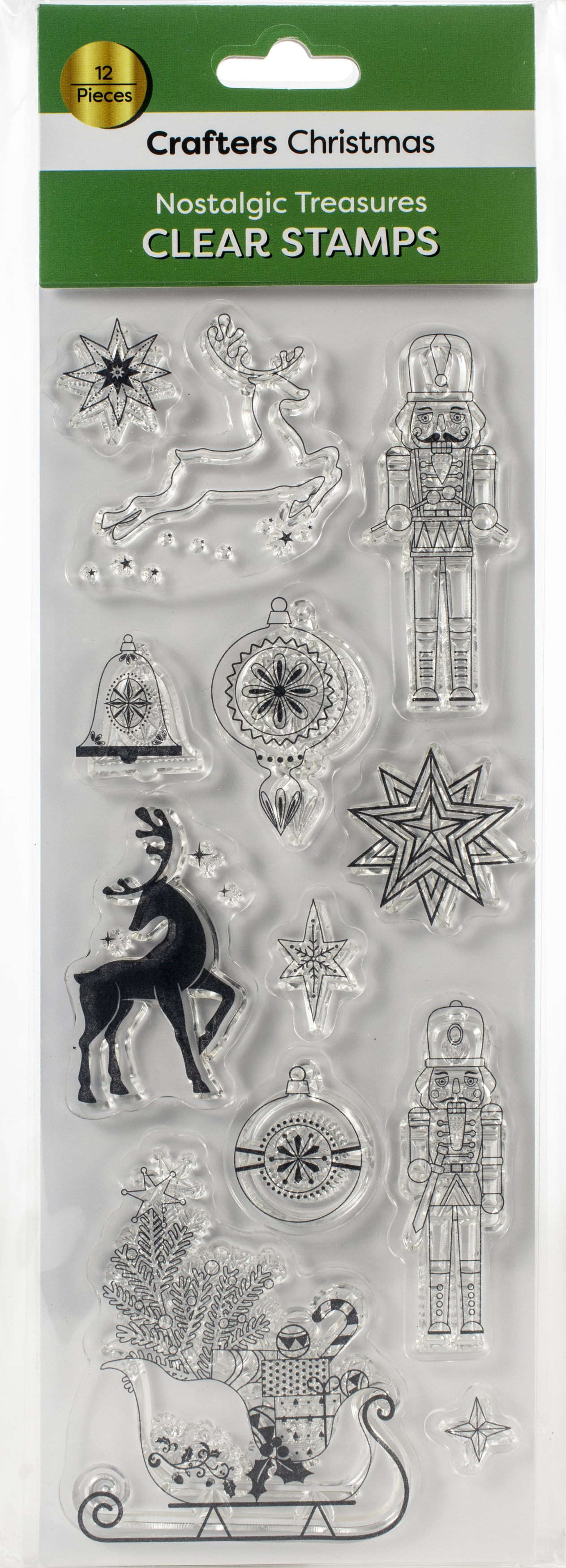 Crafters Christmas Clear Stamps-Nostalgic Treasures Icons