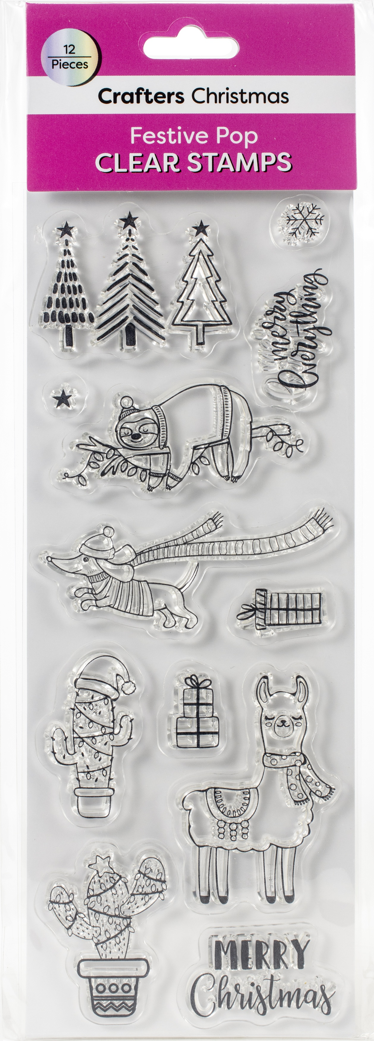 Crafters Christmas Clear Stamps-Festive Pop Icons