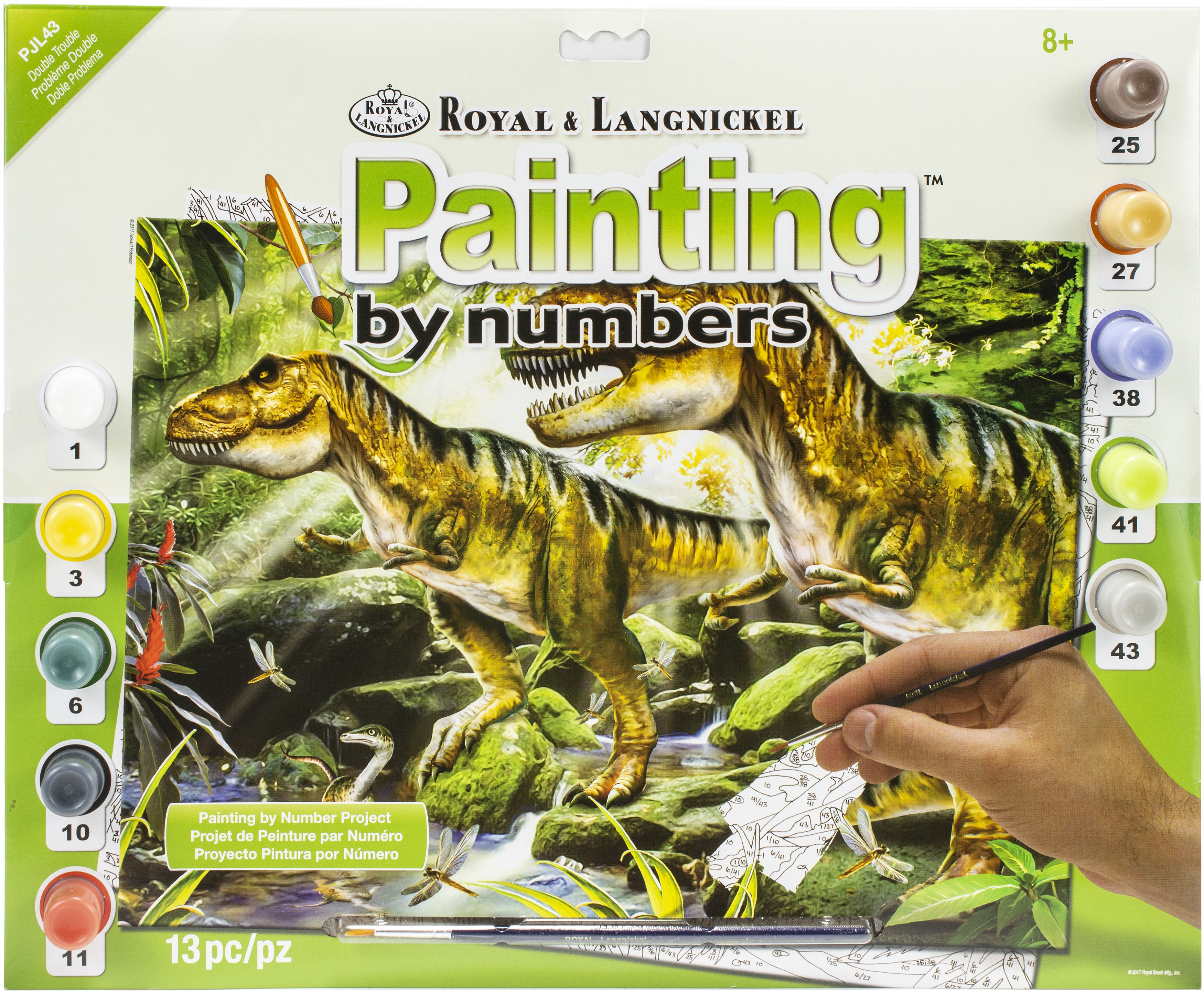 Junior Large Paint By Number Kit 15.25X11.25-Double Trouble