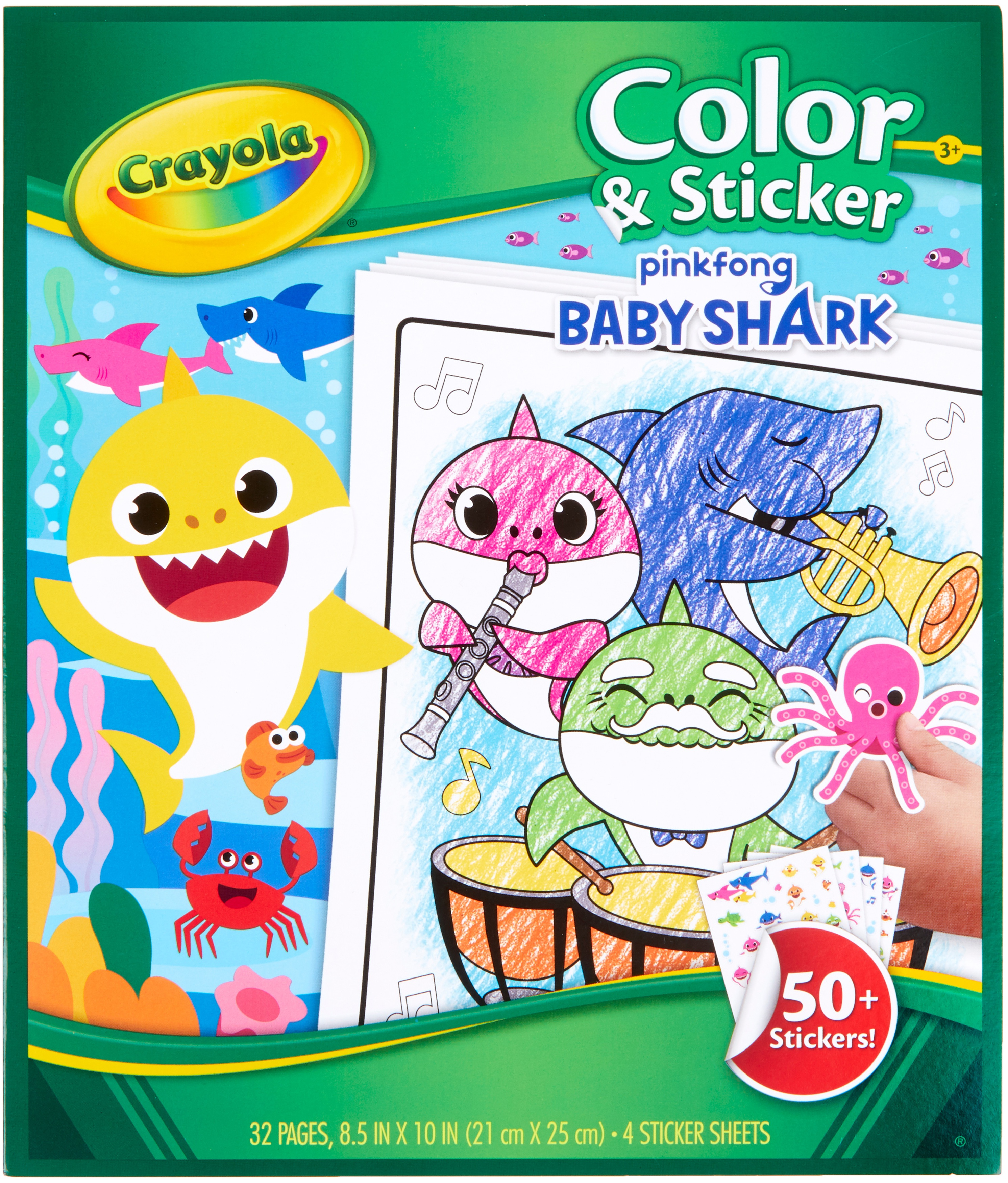 Crayola Color N' Sticker Pages -Baby Shark