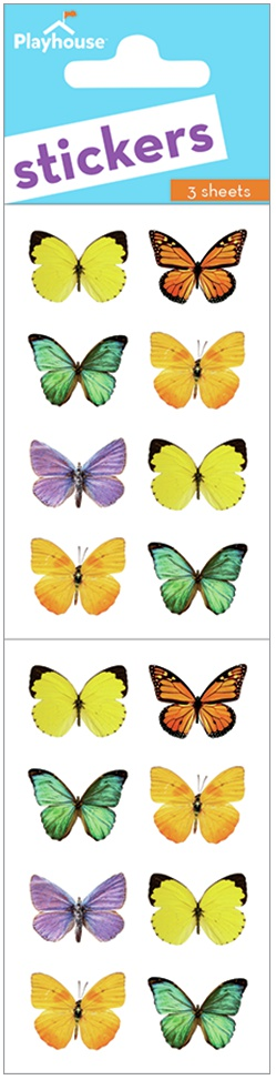 Paper House Stickers 2-Butterflies