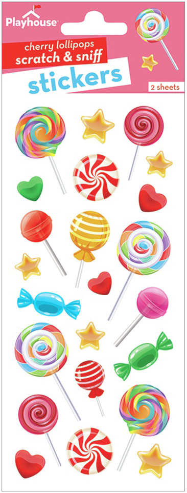 Paper House Scratch And Sniff Stickers-Cherry Lollipop