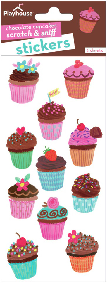 Paper House Scratch And Sniff Stickers-Chocolate Cupcakes