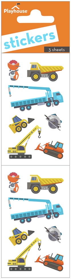 Paper House Stickers 2-Construction Equipment