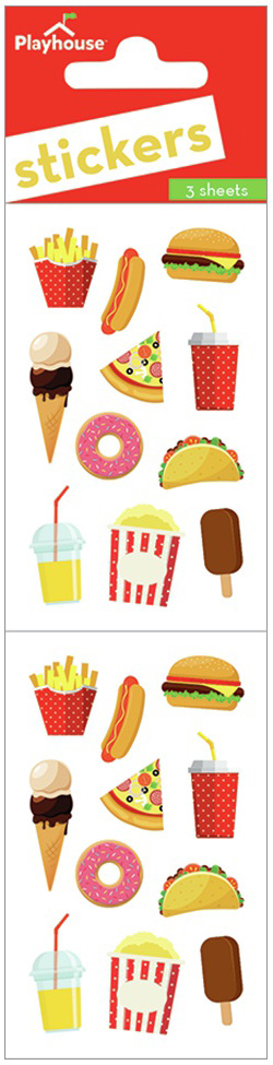 Paper House Stickers 2-Junk Food