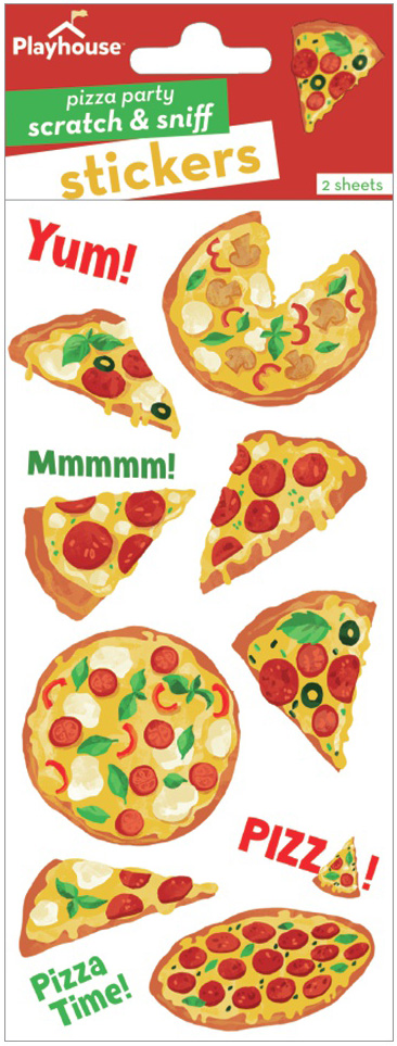 Paper House Scratch And Sniff Stickers-Pizza Party