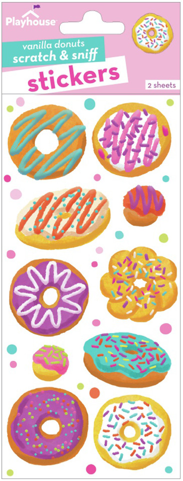 Paper House Scratch And Sniff Stickers-Vanilla Donuts