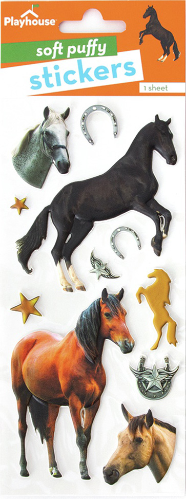 Paper House Soft Puffy Stickers -Horses