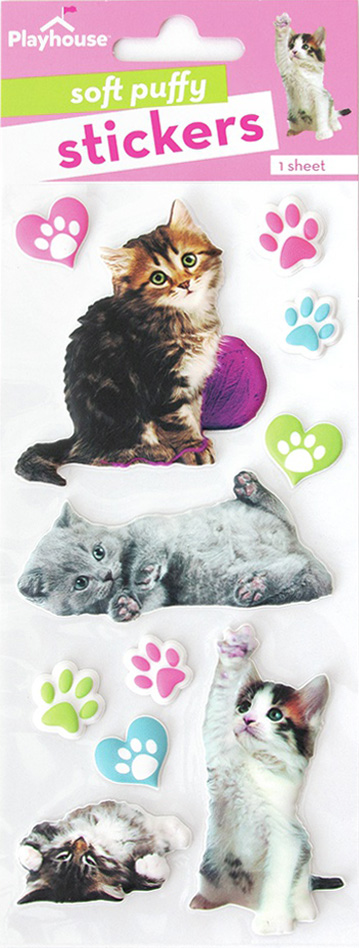 Paper House Soft Puffy Stickers -Kittens