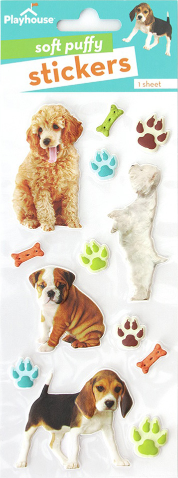 Paper House Soft Puffy Stickers -Puppies