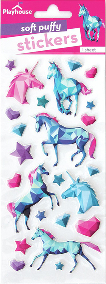 Paper House Soft Puffy Stickers -Unicorns