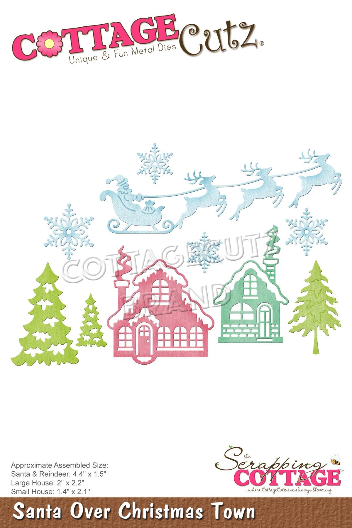 Santa Over Christmas Town Die