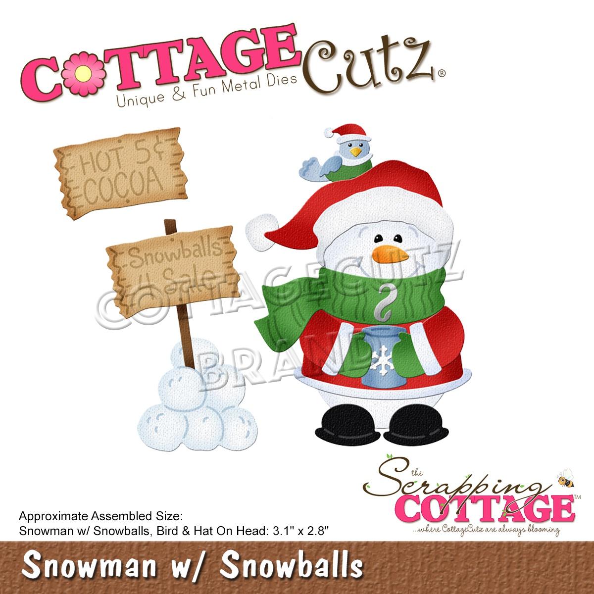 Snowman W/Snowballs Die