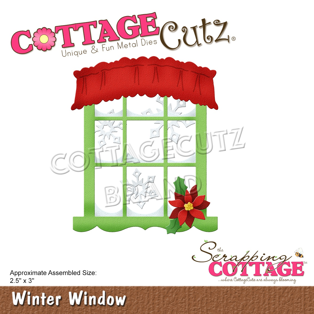 CottageCutz Dies-Winter Window, 2.5X3