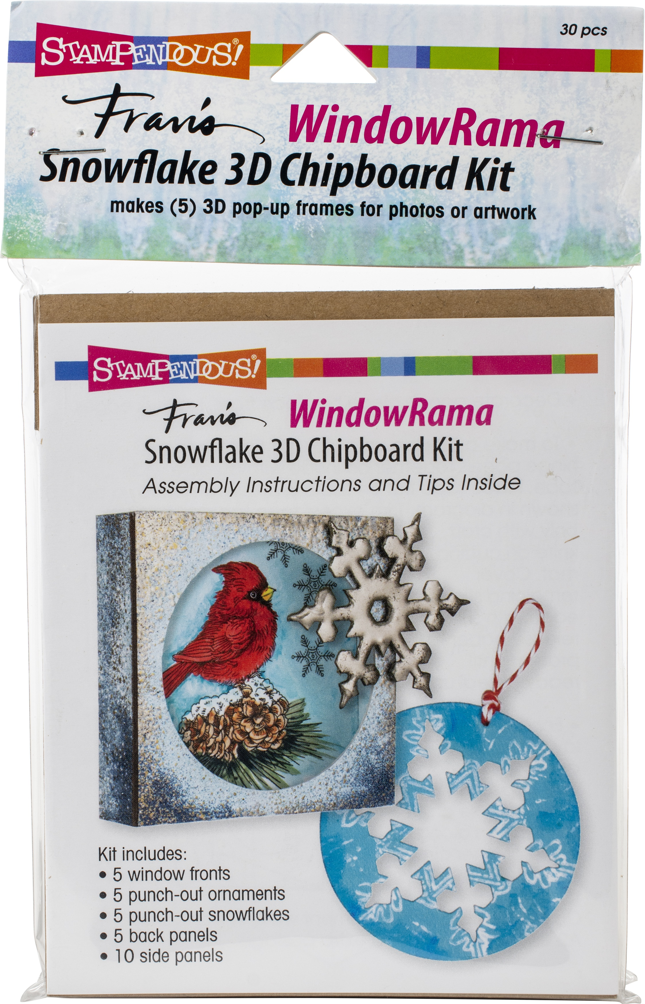 Stampendous Windowrama 3D Chipboard Kit-Snowflake