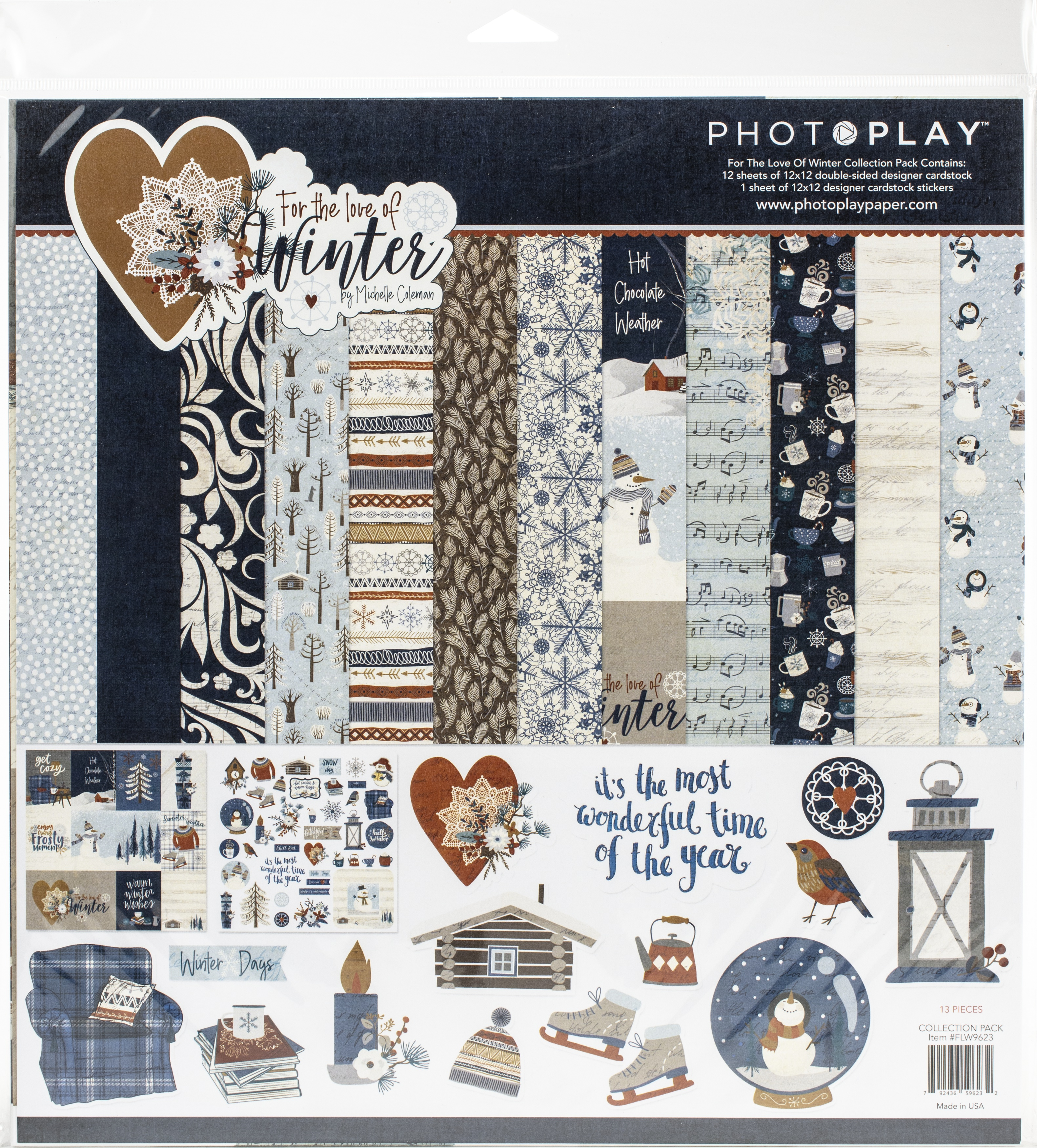 PhotoPlay Collection Pack 12X12-For The Love Of Winter