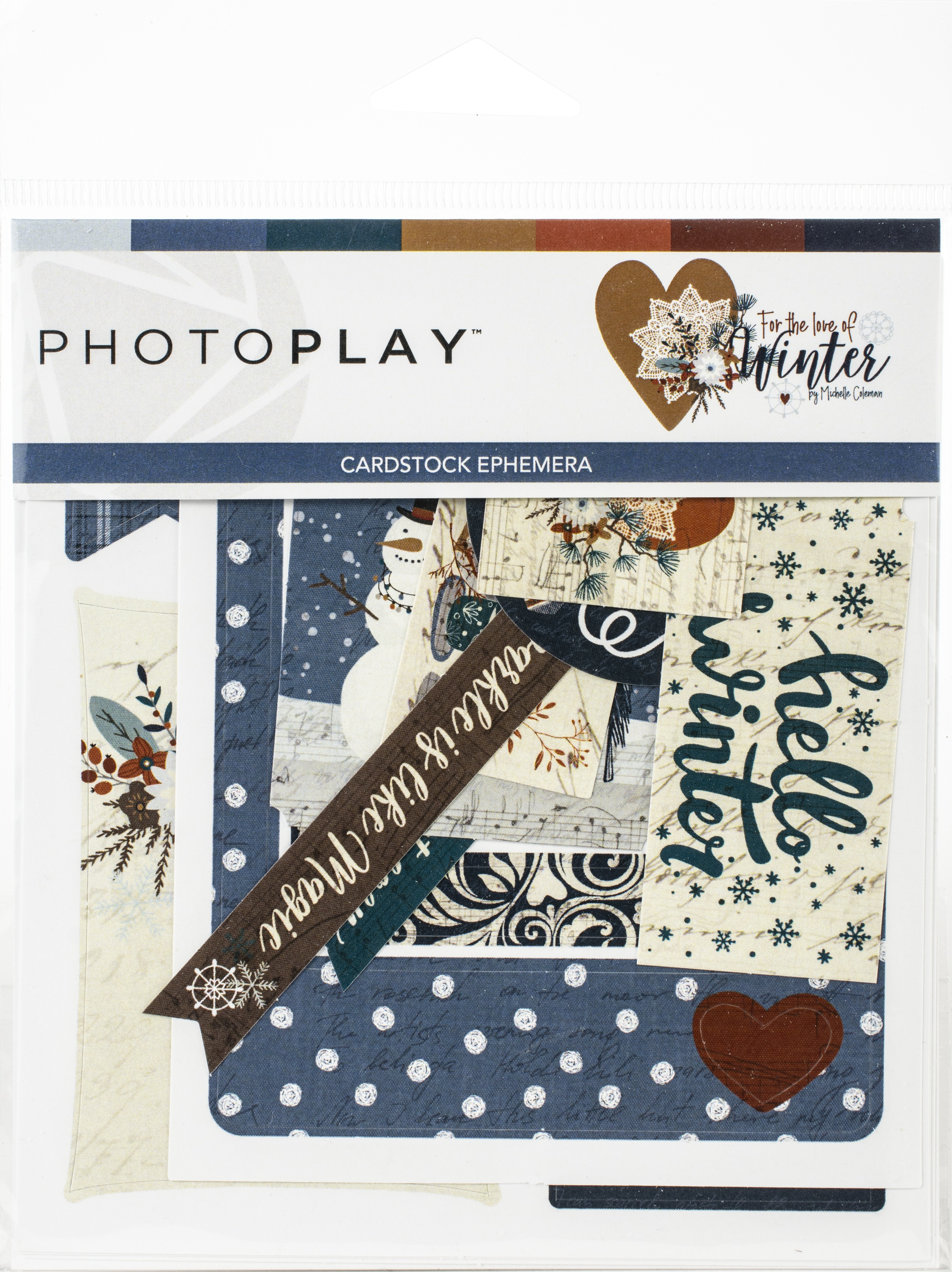 For The Love Of Winter Ephemera Cardstock Die-Cuts-