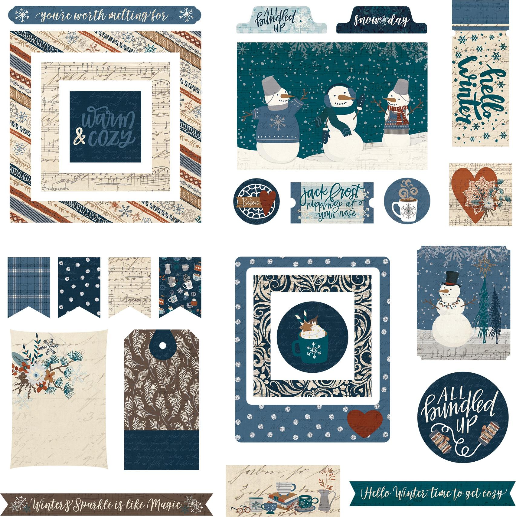For The Love Of Winter Ephemera Cardstock Die-Cuts-