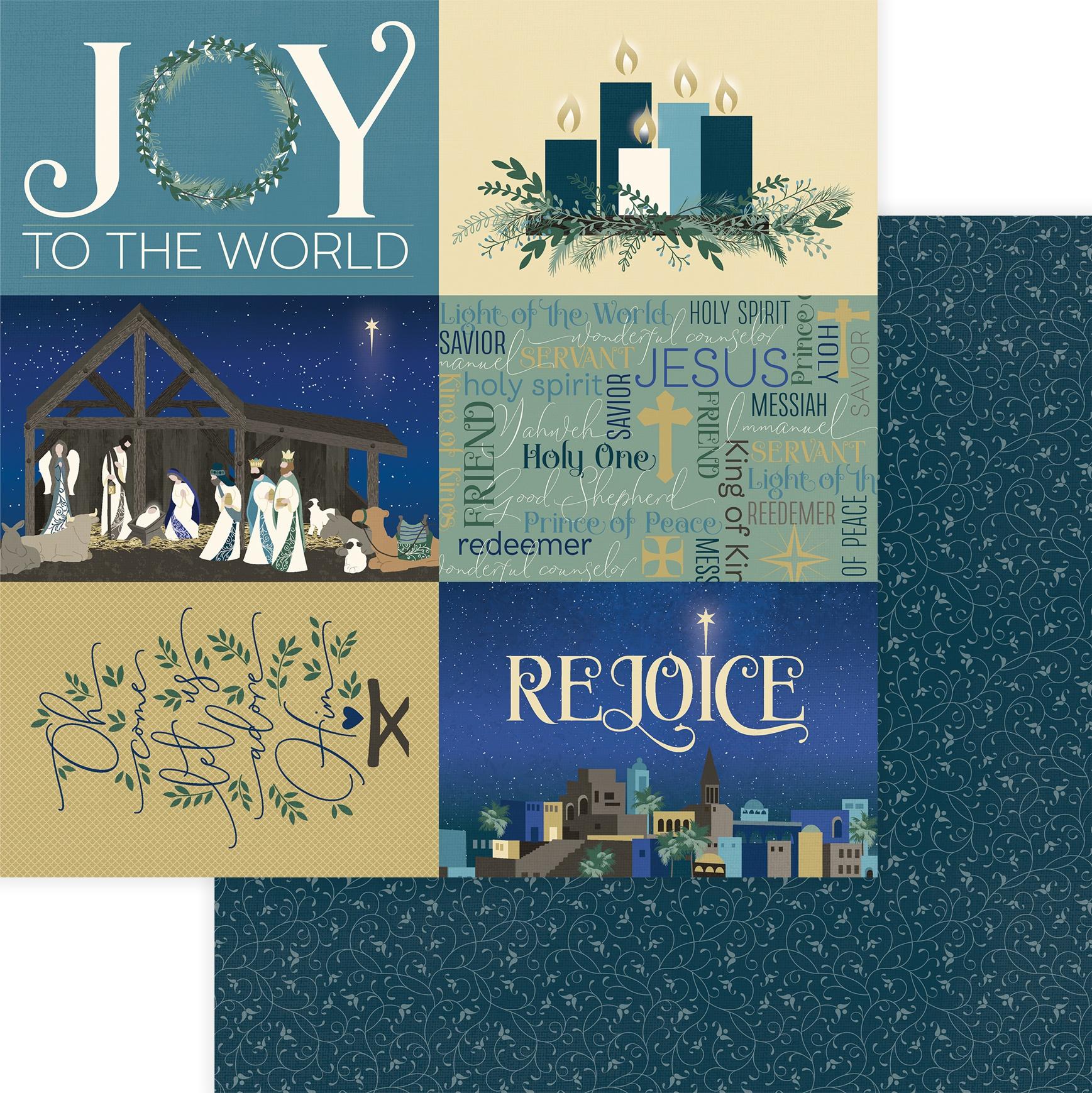 One Night In Bethlehem Double-Sided Cardstock 12X12 Rejoice