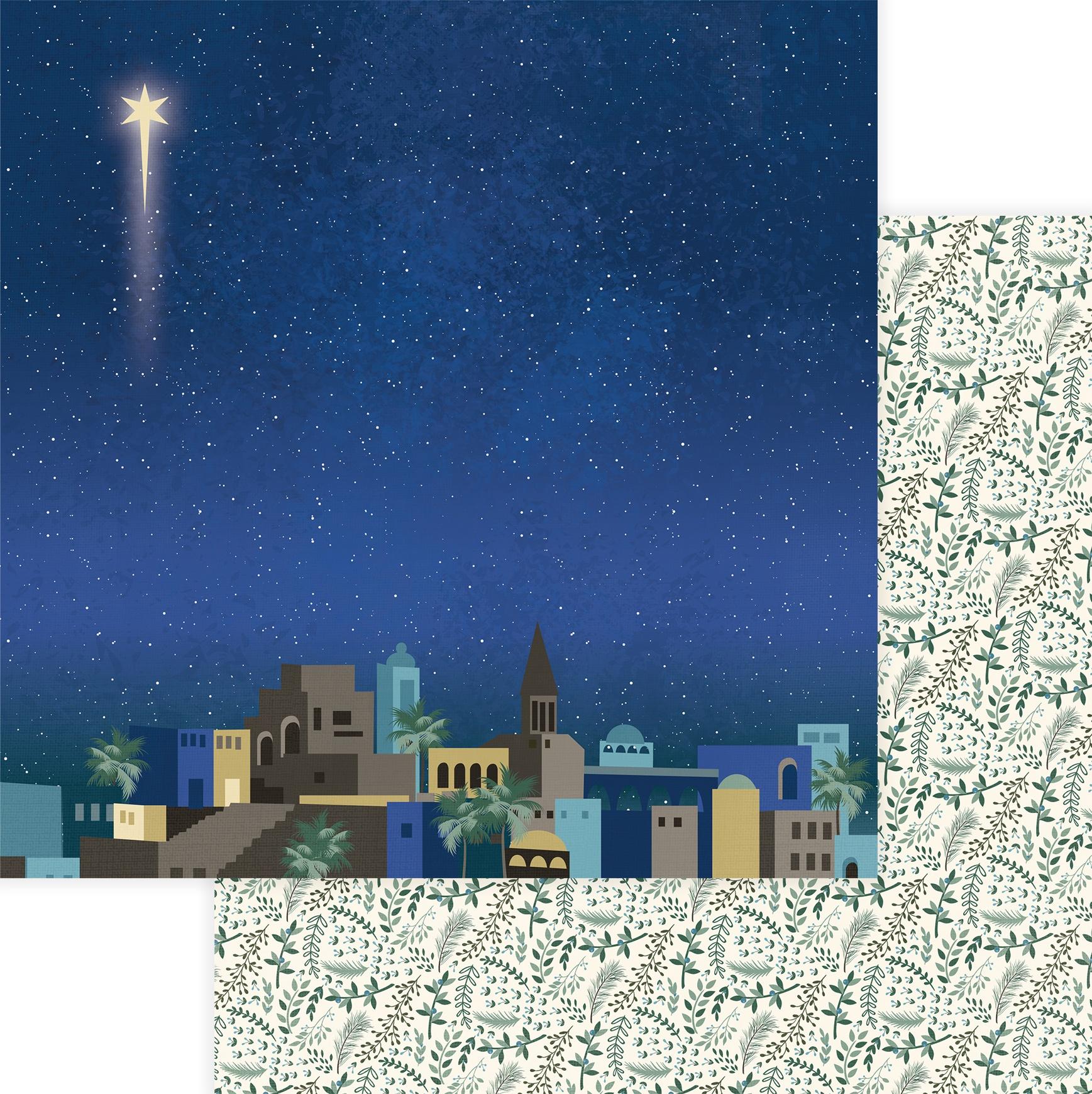 One Night In Bethlehem Double-Sided Cardstock 12X12 Bethlehem