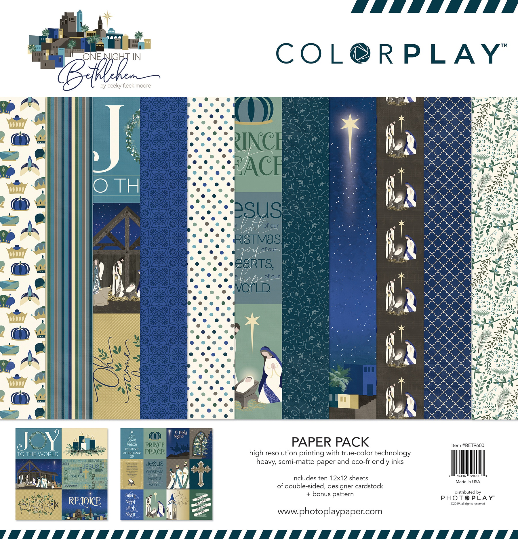 ColorPlay Collection Pack 12X12-One Night In Bethlehem