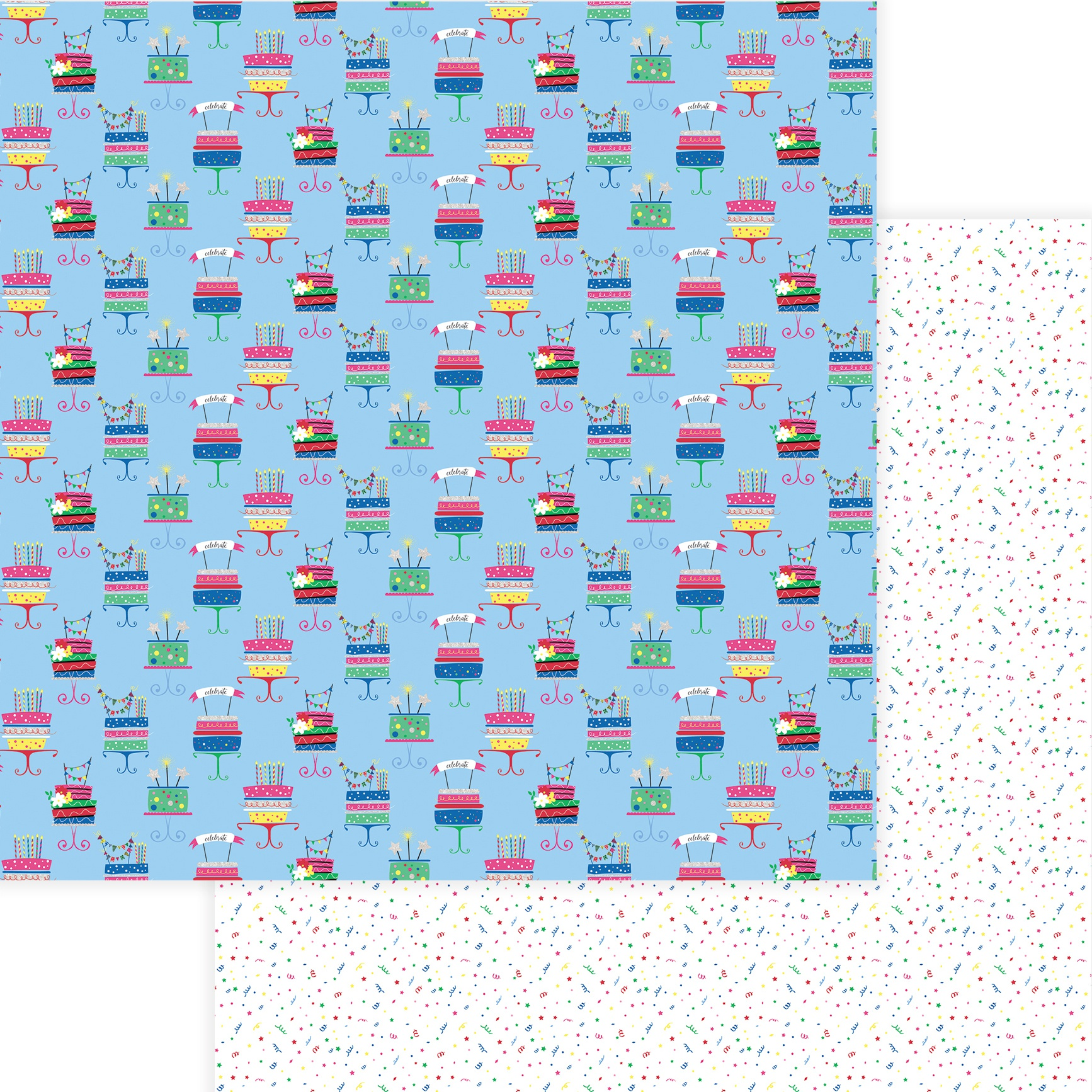 Photoplay Confetti Double-Sided Cardstock 12x12- Eat Cake