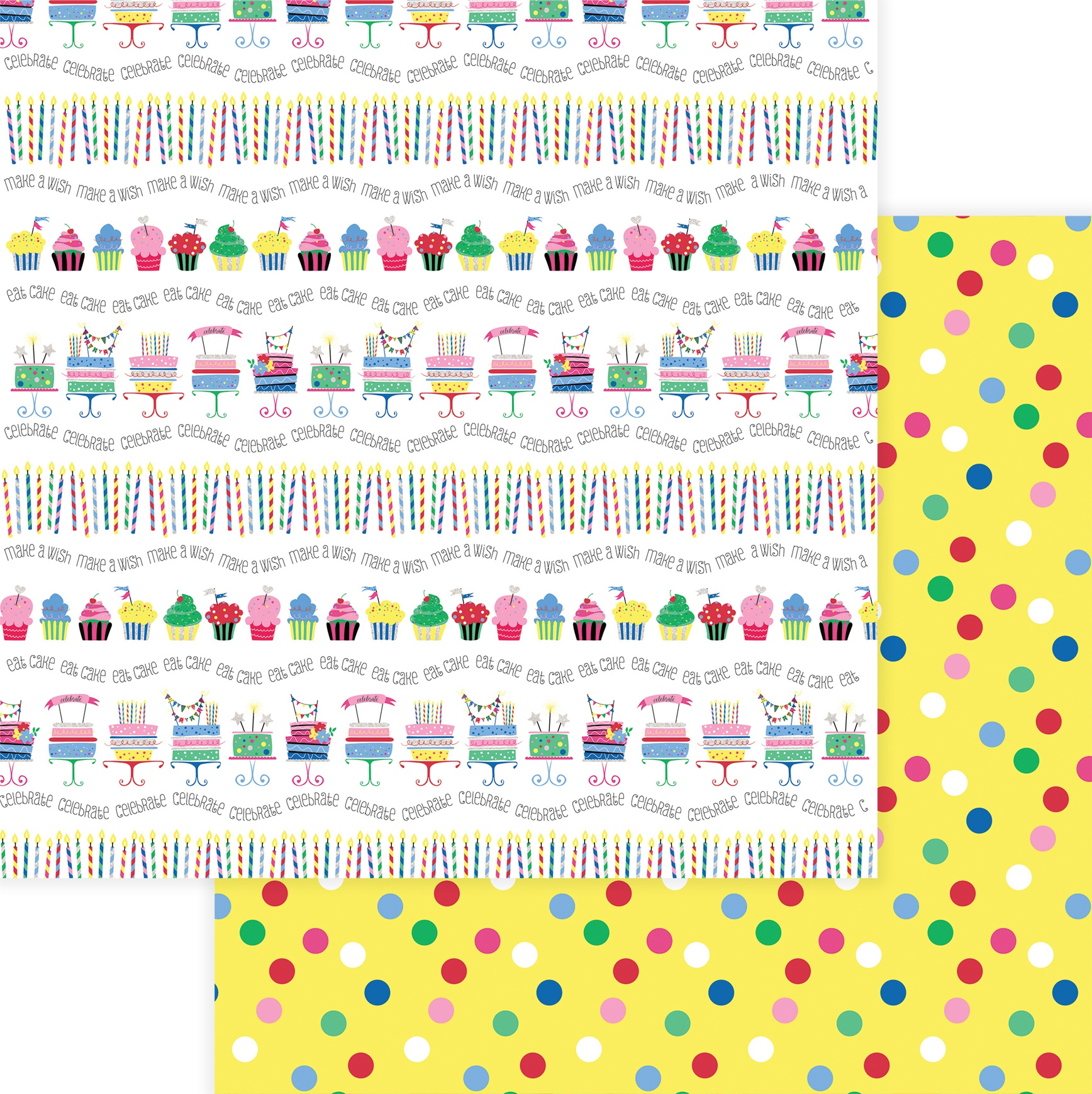 Photoplay Confetti Double-Sided Cardstock 12x12-  Let's Party