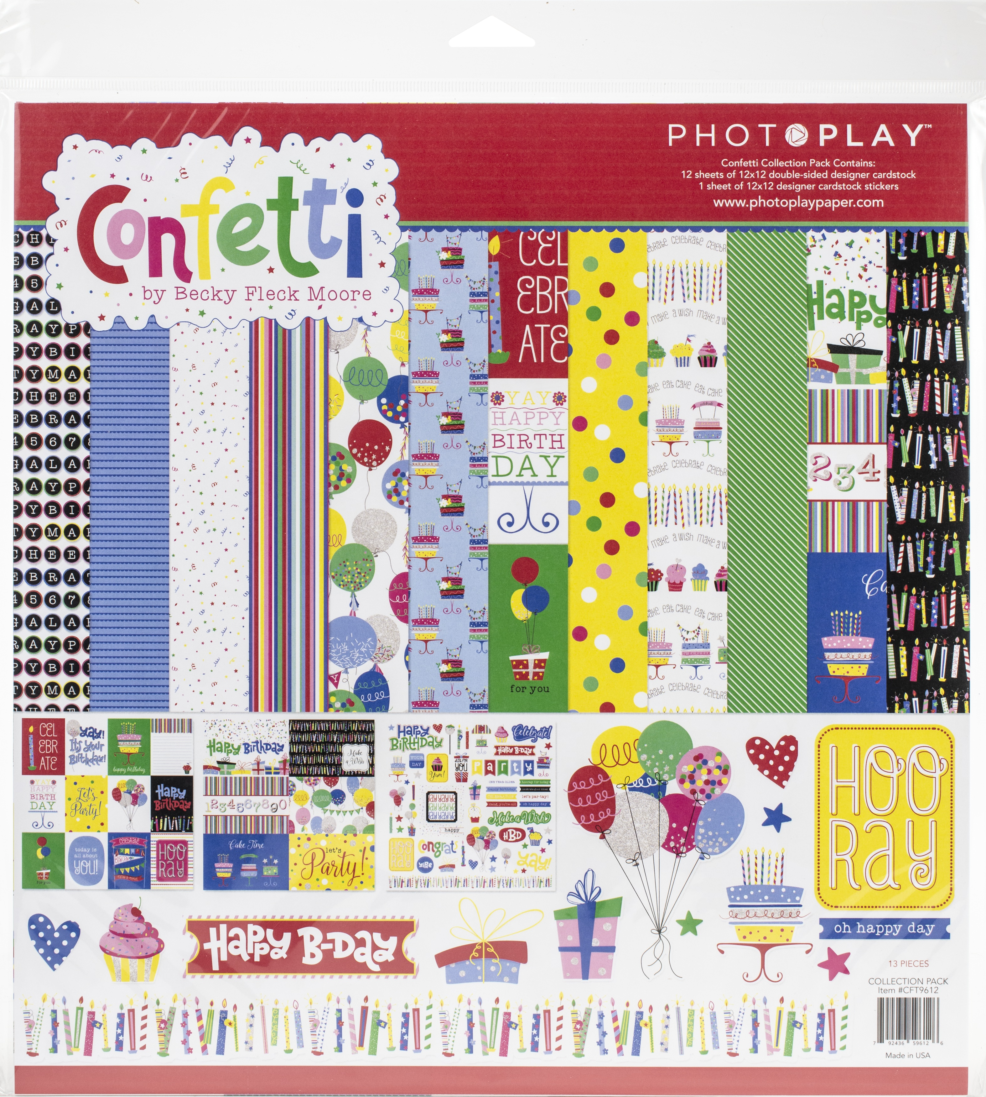PhotoPlay Collection Pack 12X12-Confetti