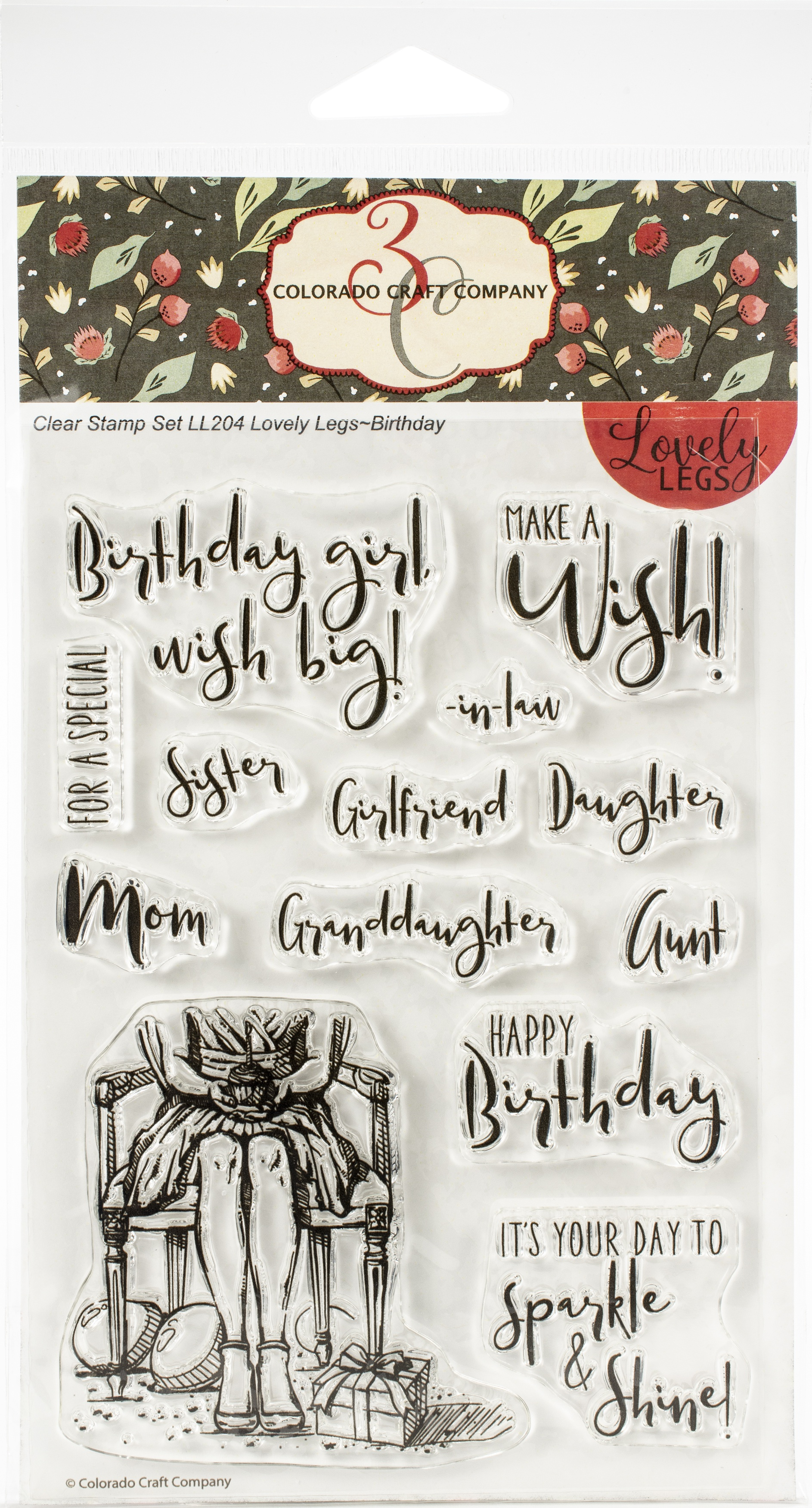 Colorado Craft Company Clear Stamps 4X6-Birthday-Lovely Legs