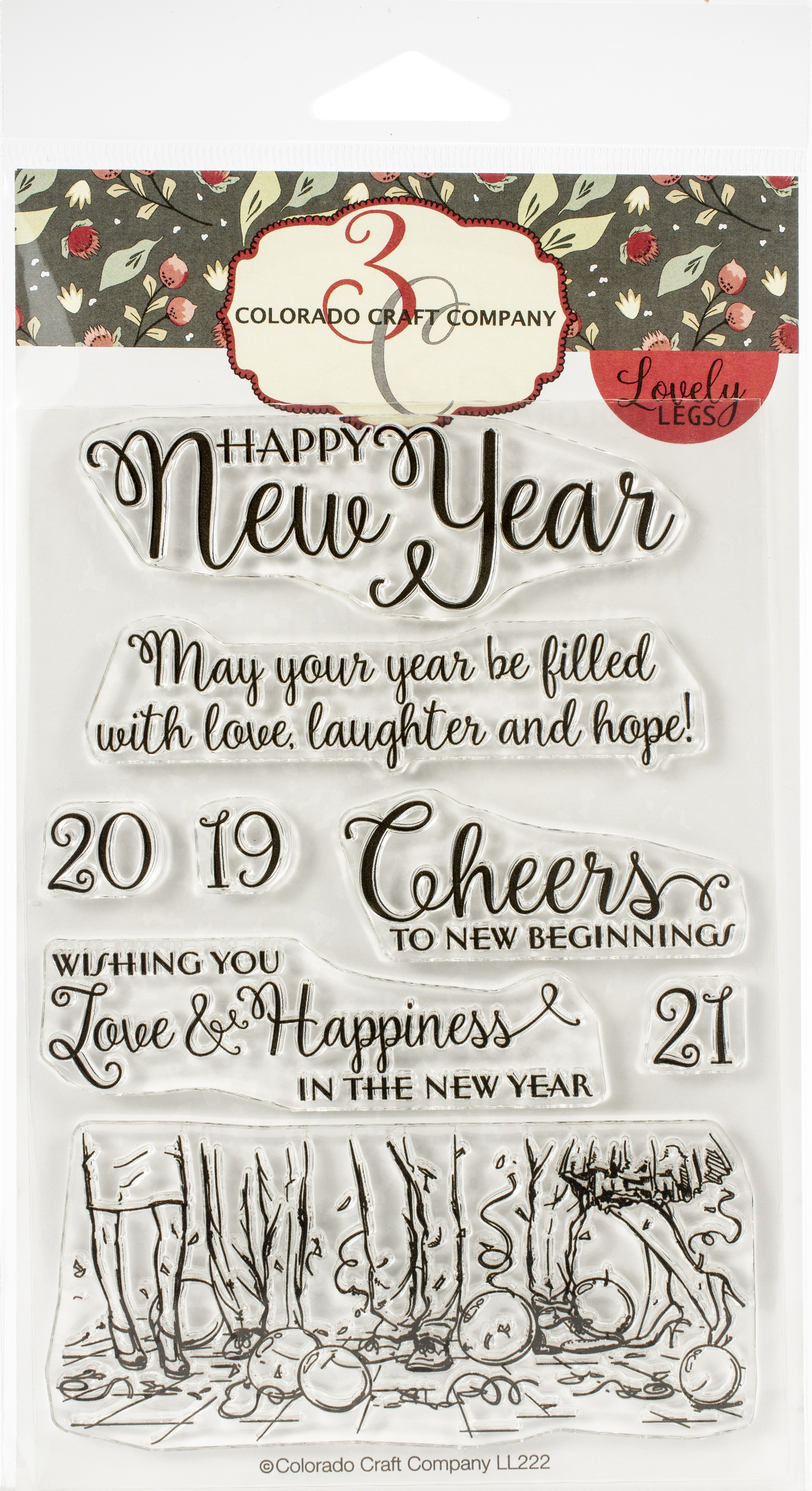 Colorado Craft Company Clear Stamps 4X6-Happy New Year-Lovely Legs